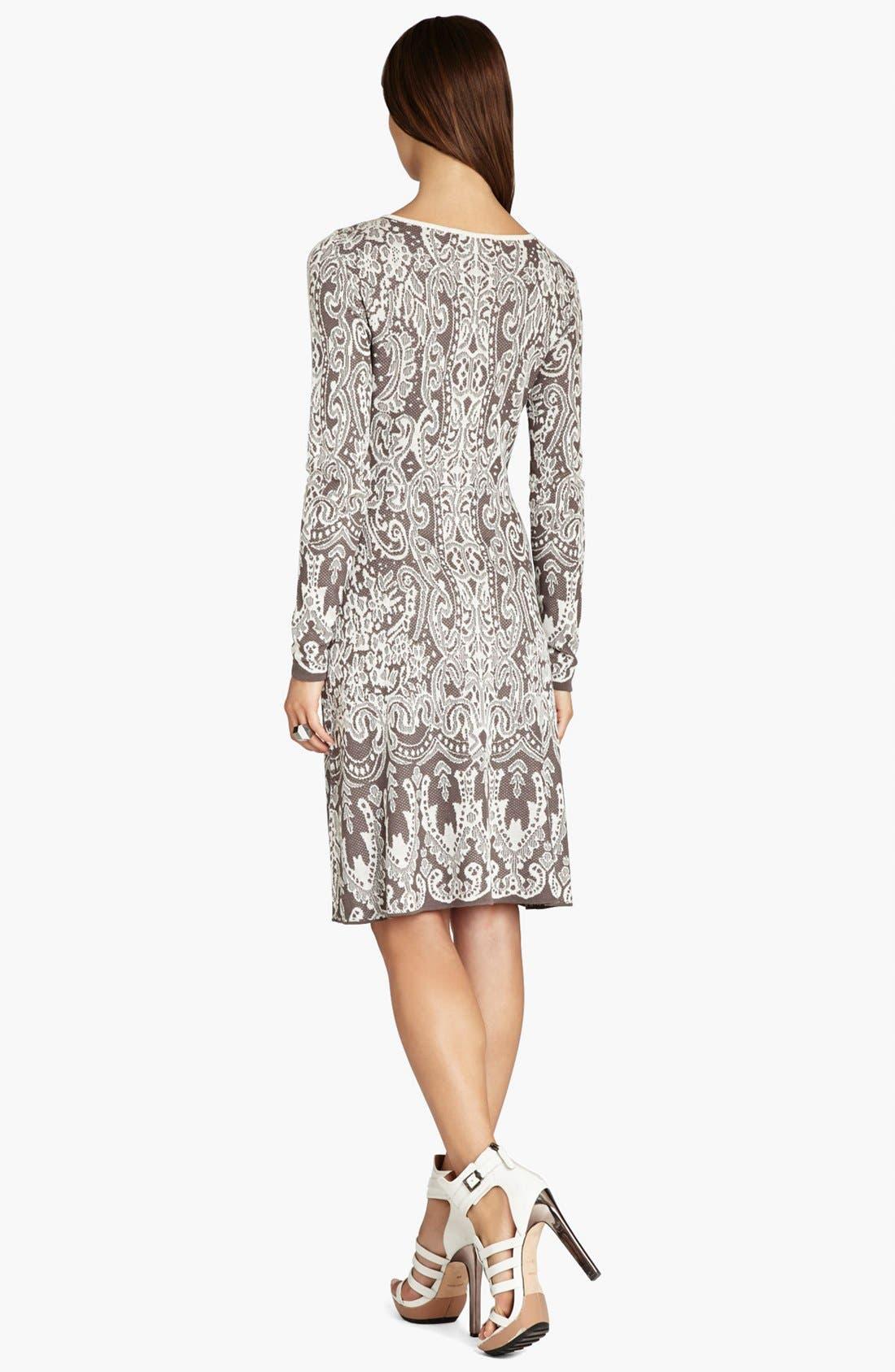 Alternate Image 2  - BCBGMAXAZRIA Intarsia Jacquard Sweater Dress