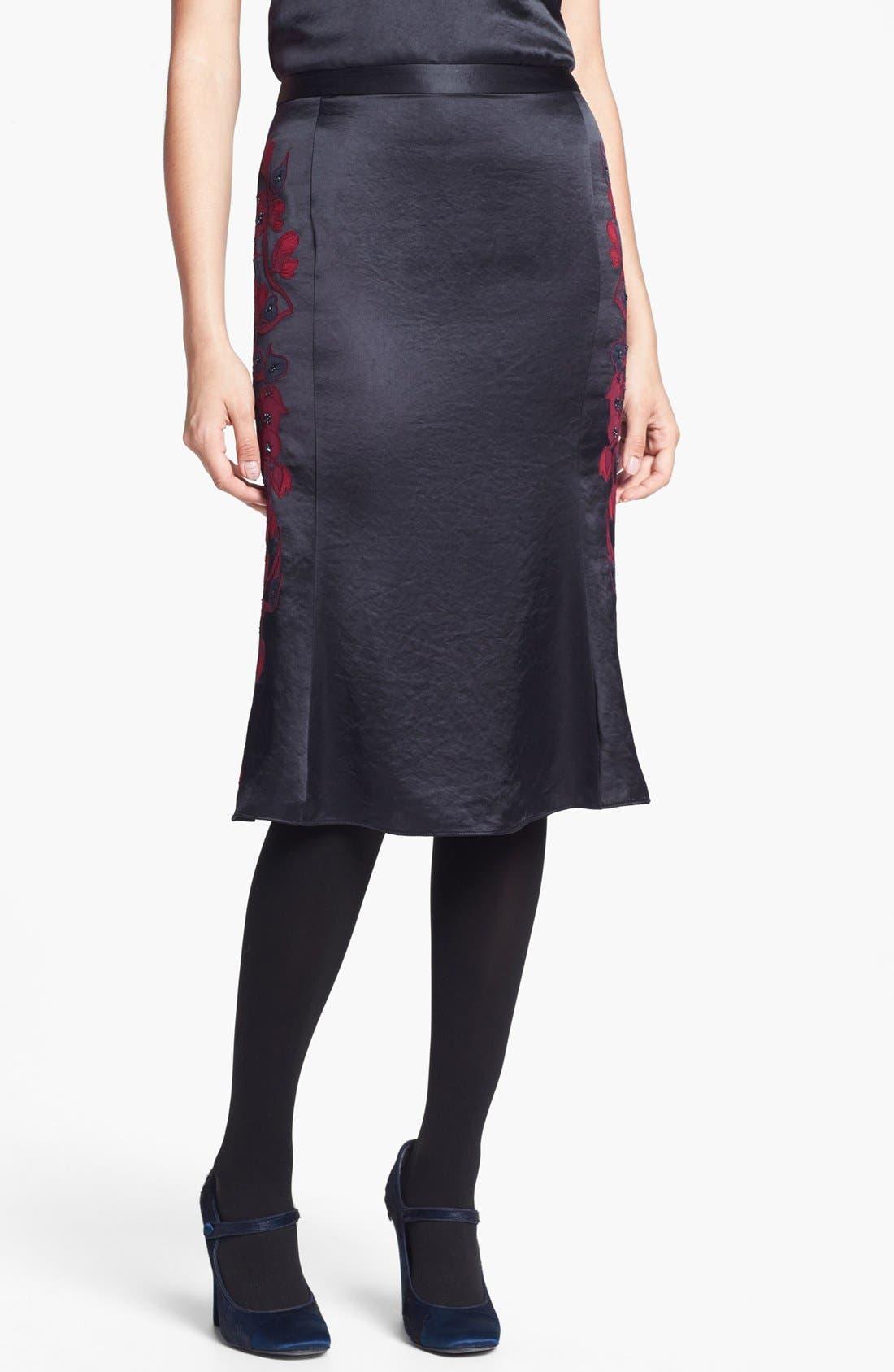 Main Image - Tory Burch 'Uma' Embellished Midi Skirt