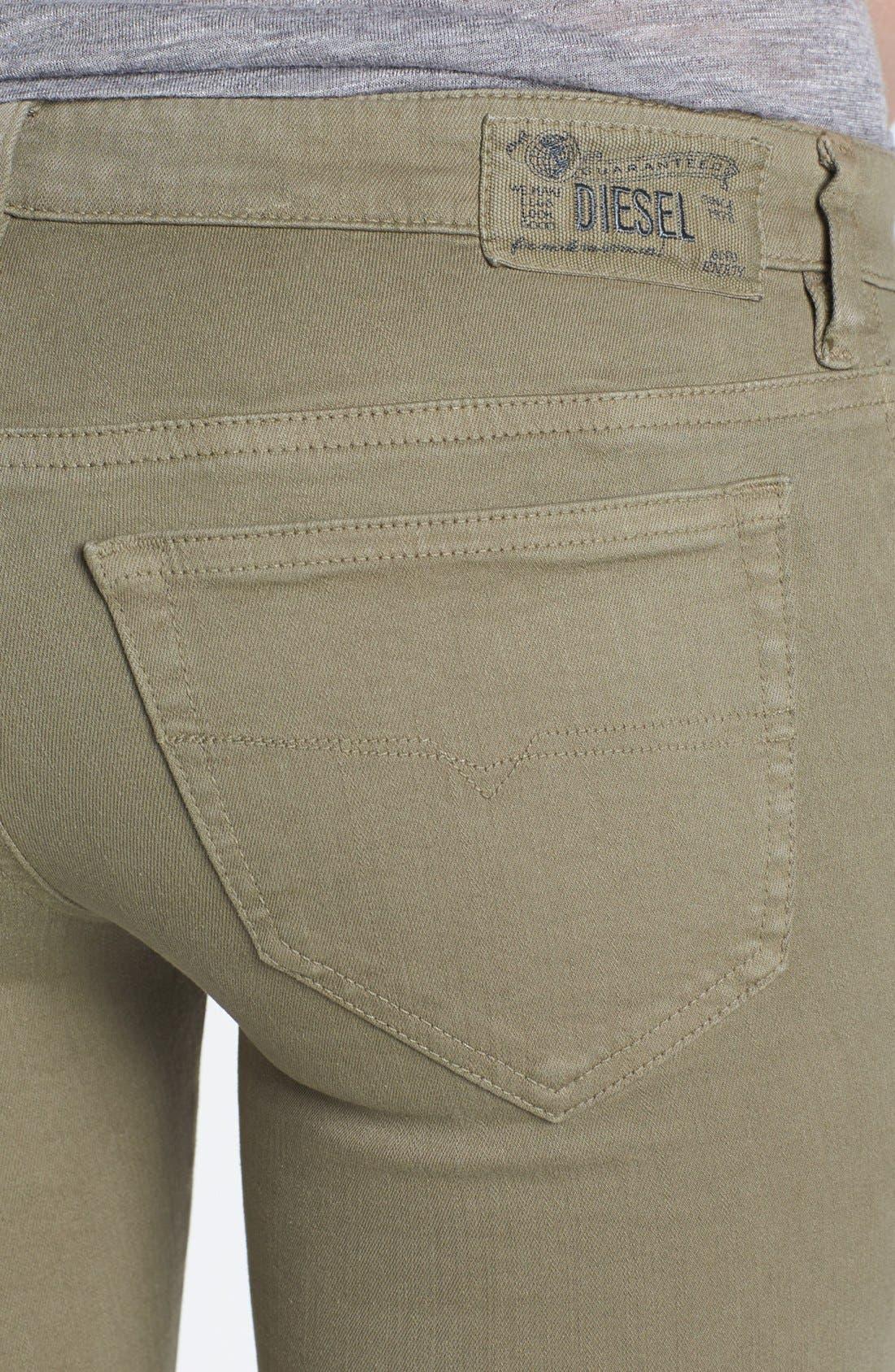 Alternate Image 3  - DIESEL® 'Skinzee' Low Rise Skinny Jeans