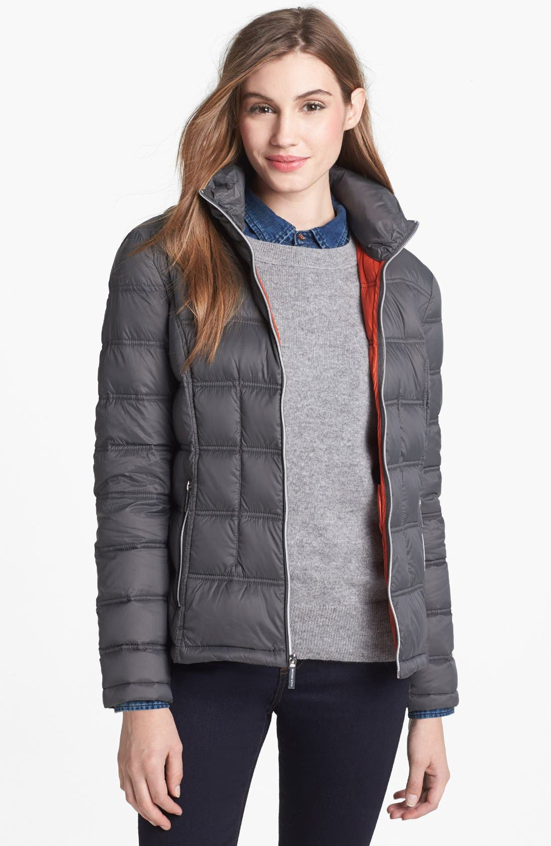 Main Image - MICHAEL Michael Kors Packable Down Jacket with Detachable Hood (Petite) (Online Only)