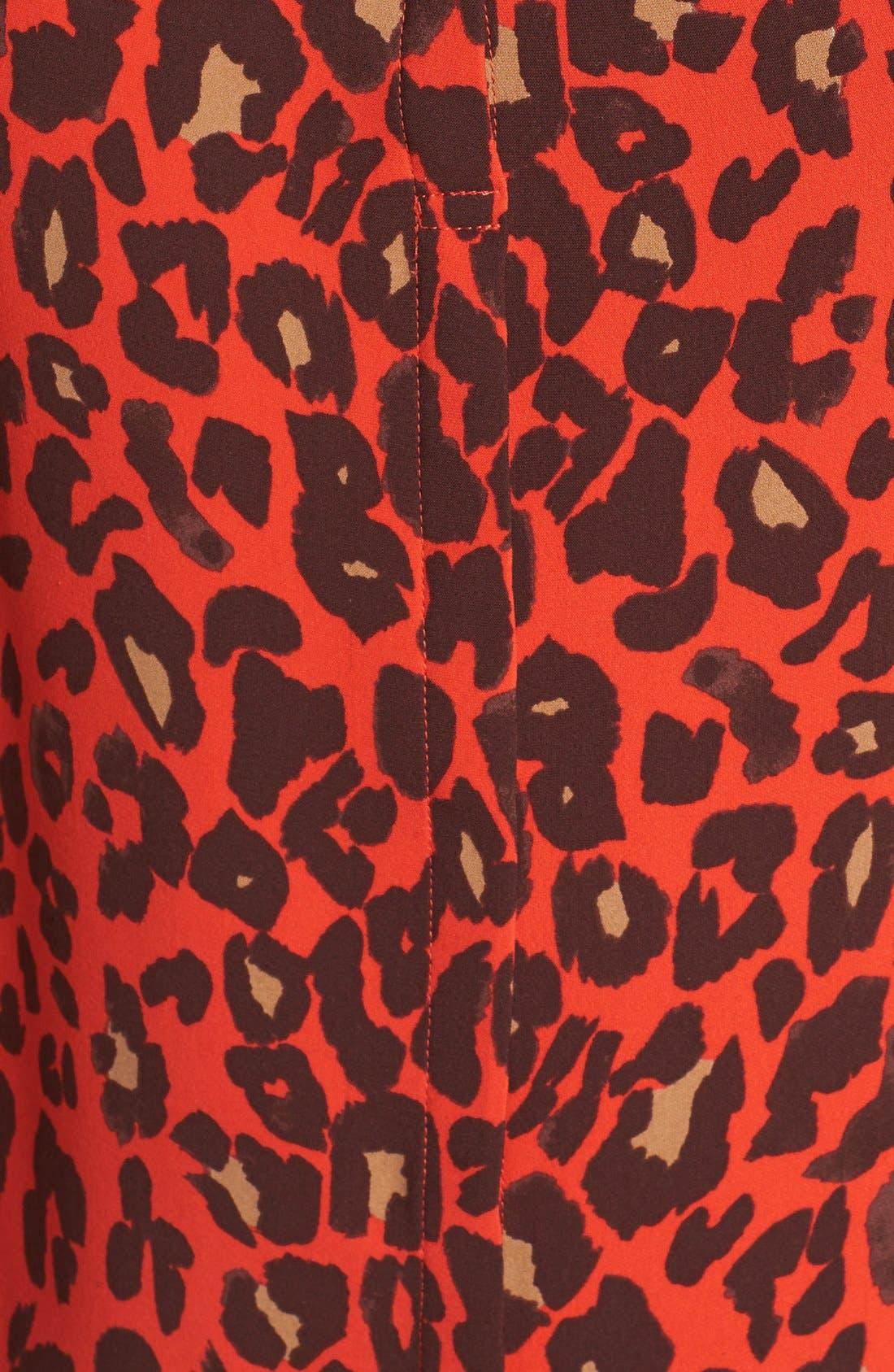 Alternate Image 3  - A.L.C. 'Anise' Leopard Print Silk Top