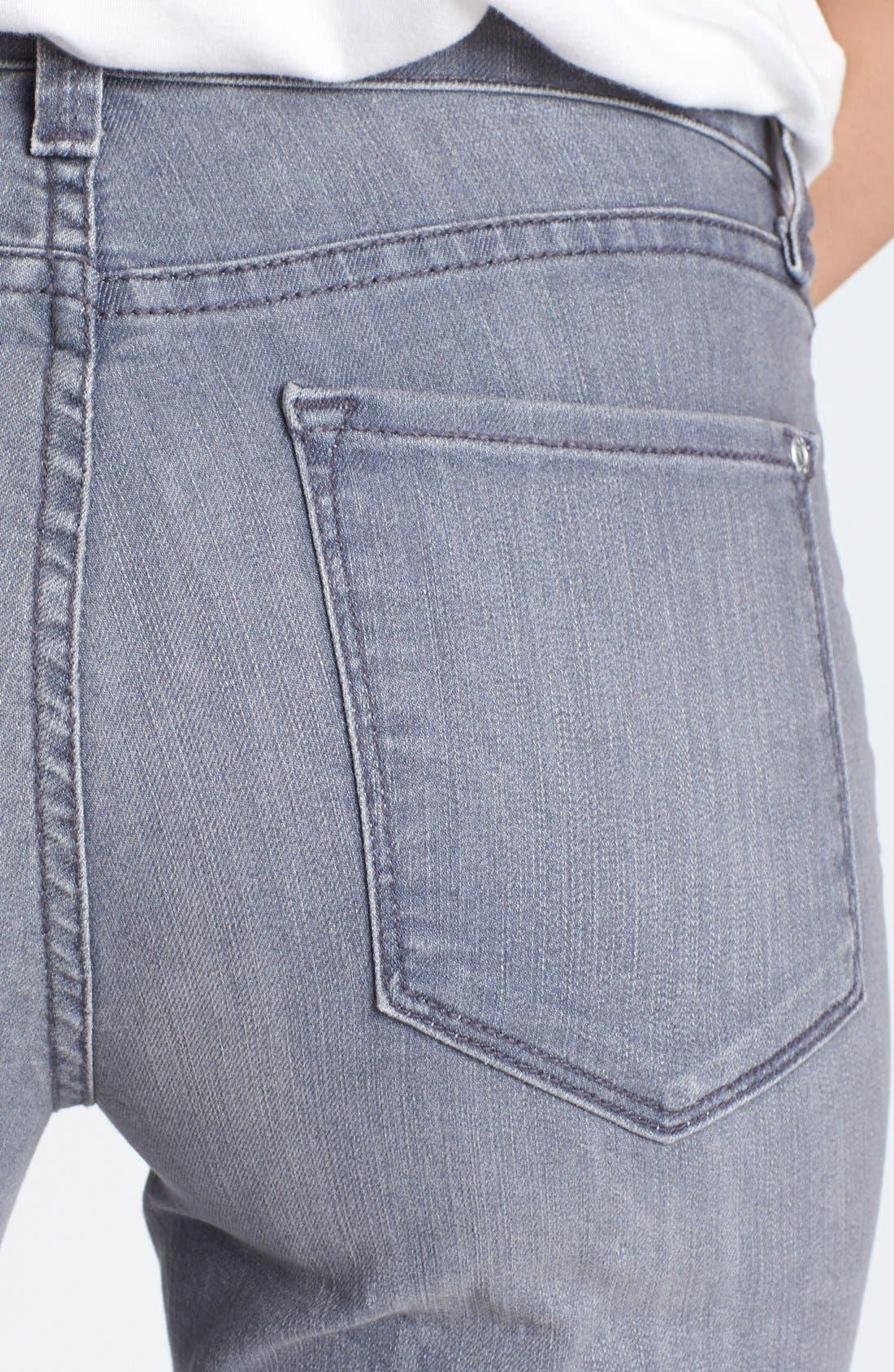 Alternate Image 3  - NYDJ 'Marilyn' Straight Leg Jeans (Grey) (Petite)