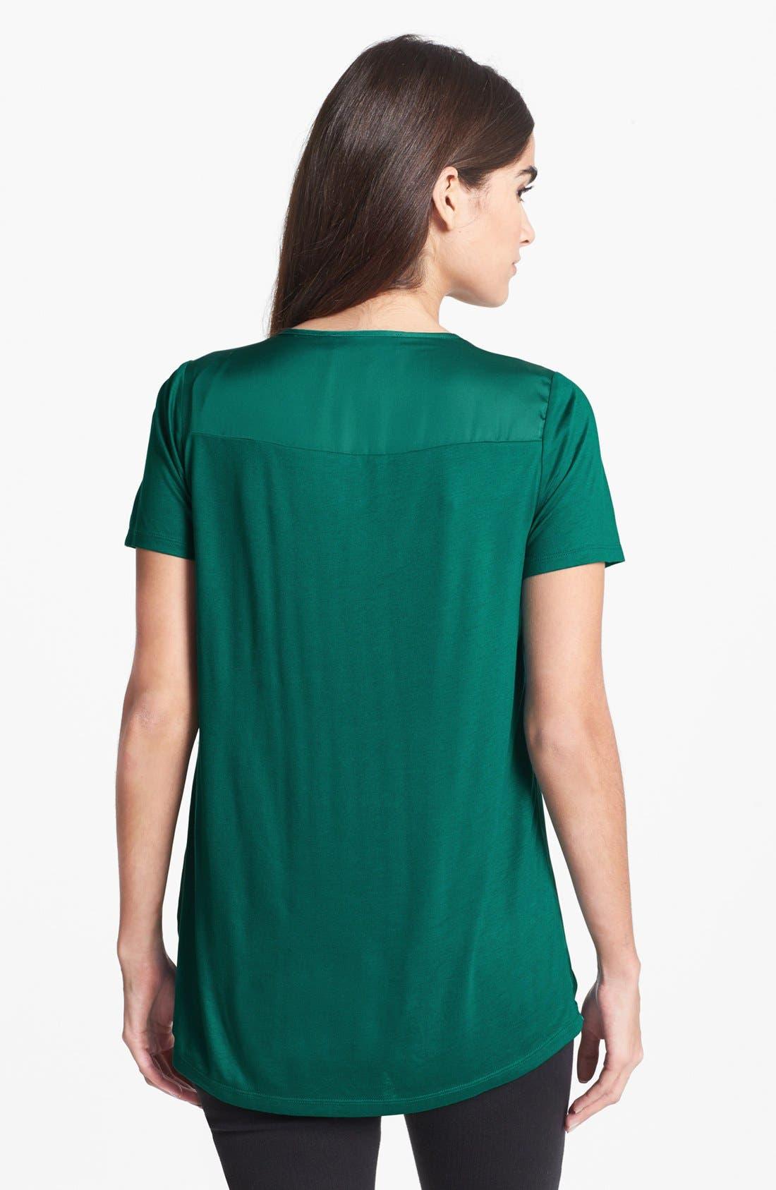 Alternate Image 2  - MICHAEL Michael Kors Zip Shoulder Top
