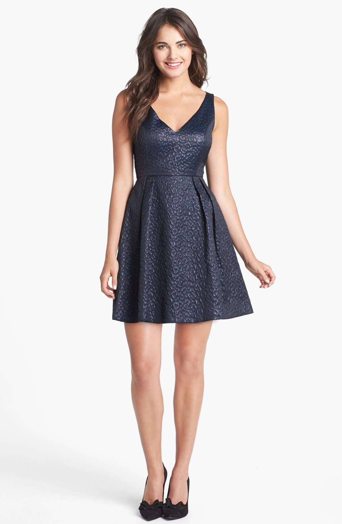 Alternate Image 1  - French Connection 'Katari' Jacquard Fit & Flare Dress