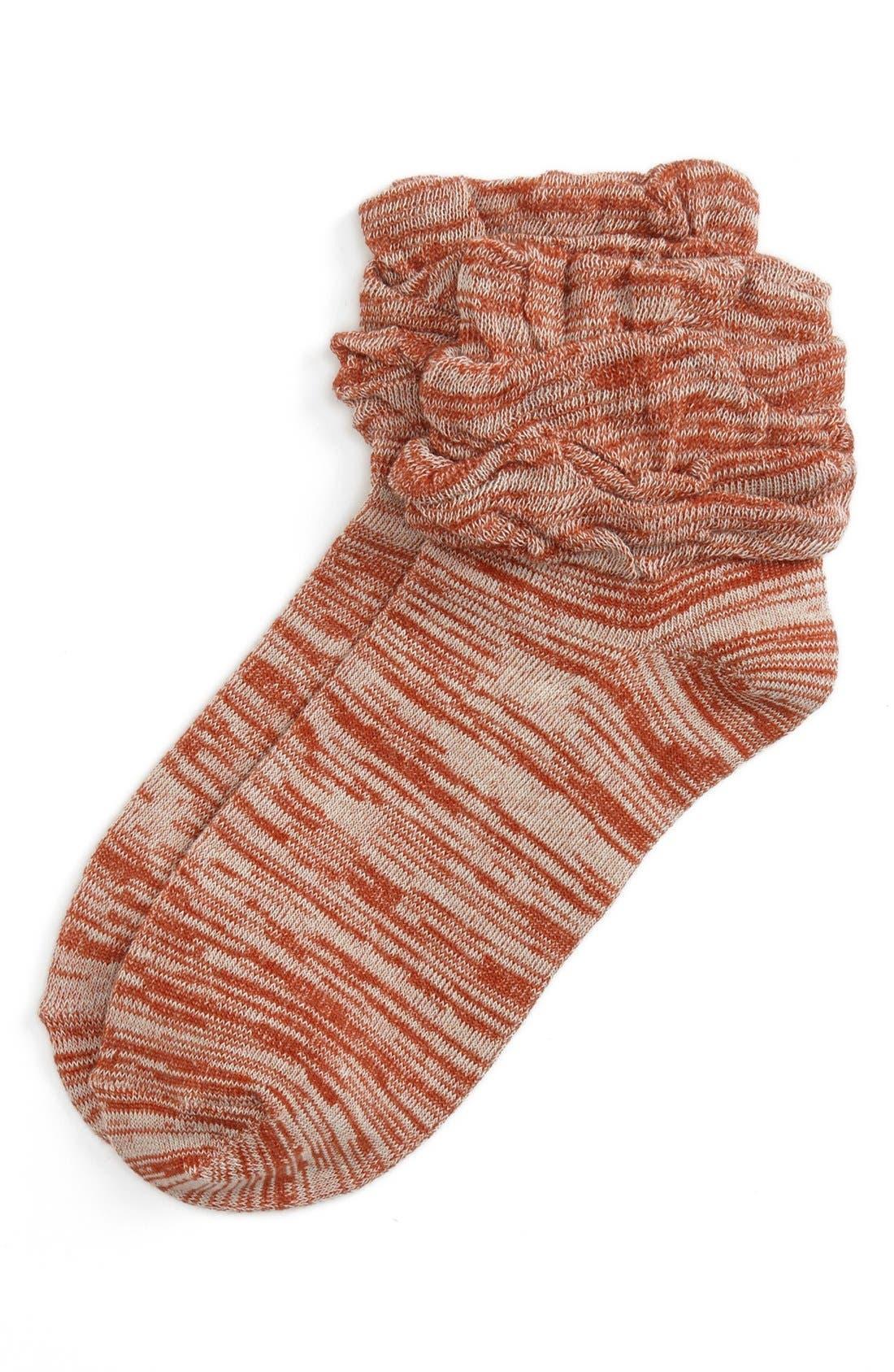 Alternate Image 1 Selected - BP. Marled Bootie Socks (Juniors)