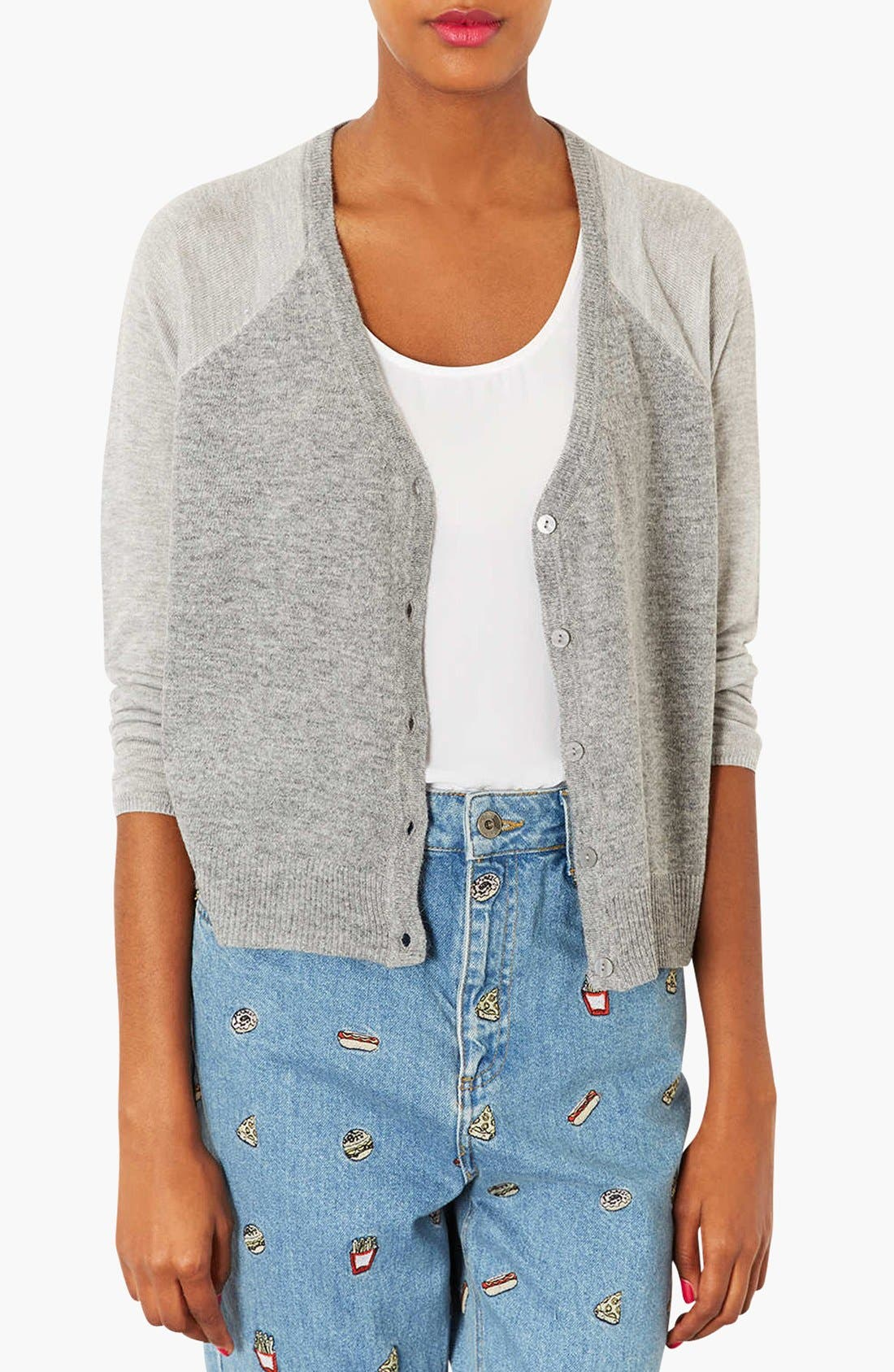 Alternate Image 1 Selected - Topshop Knit Cardigan (Petite)