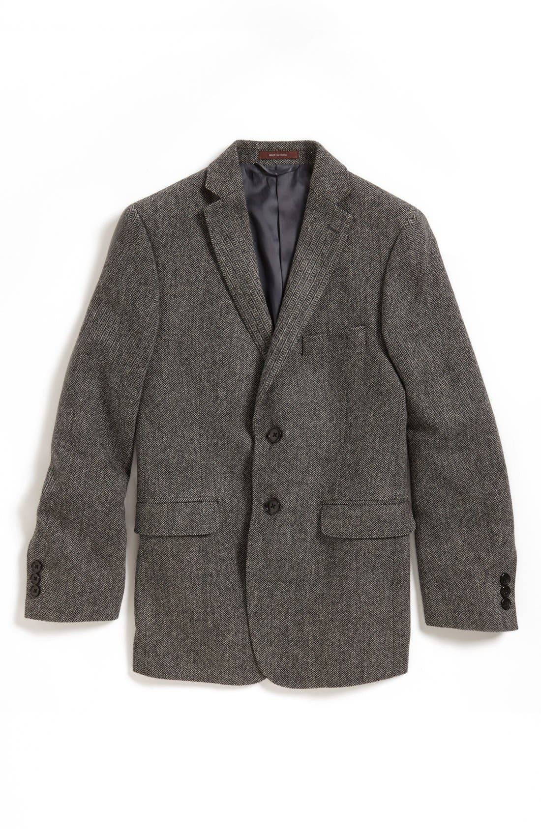 Main Image - Hickey Freeman Wool Blend Sport Coat (Big Boys)