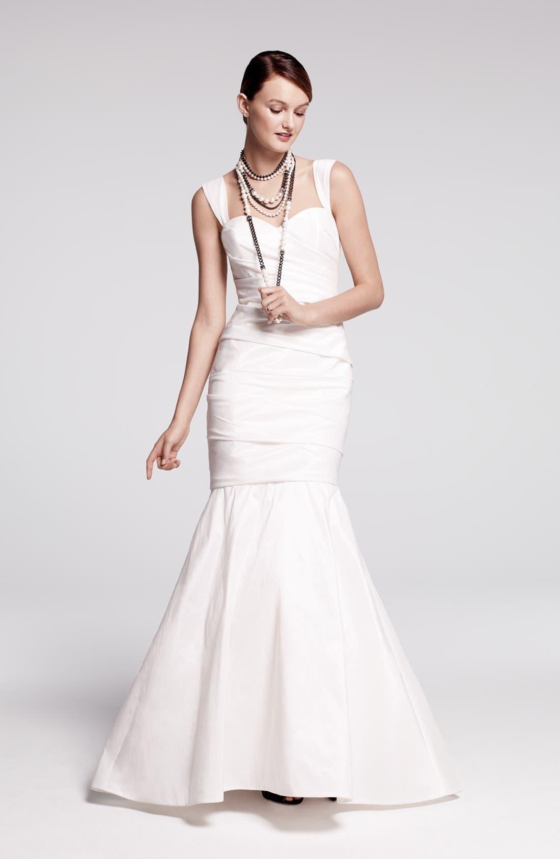 Alternate Image 2  - Amsale Taffeta Mermaid Dress (In Stores Only)