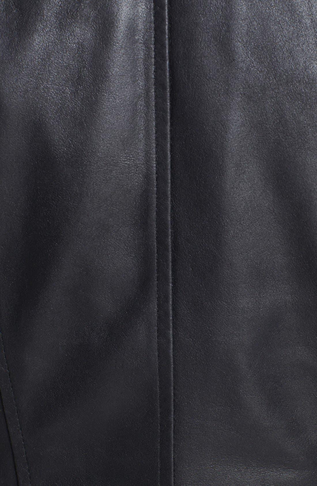 Alternate Image 3  - Bernardo Embroidered Leather Scuba Jacket (Regular & Petite)