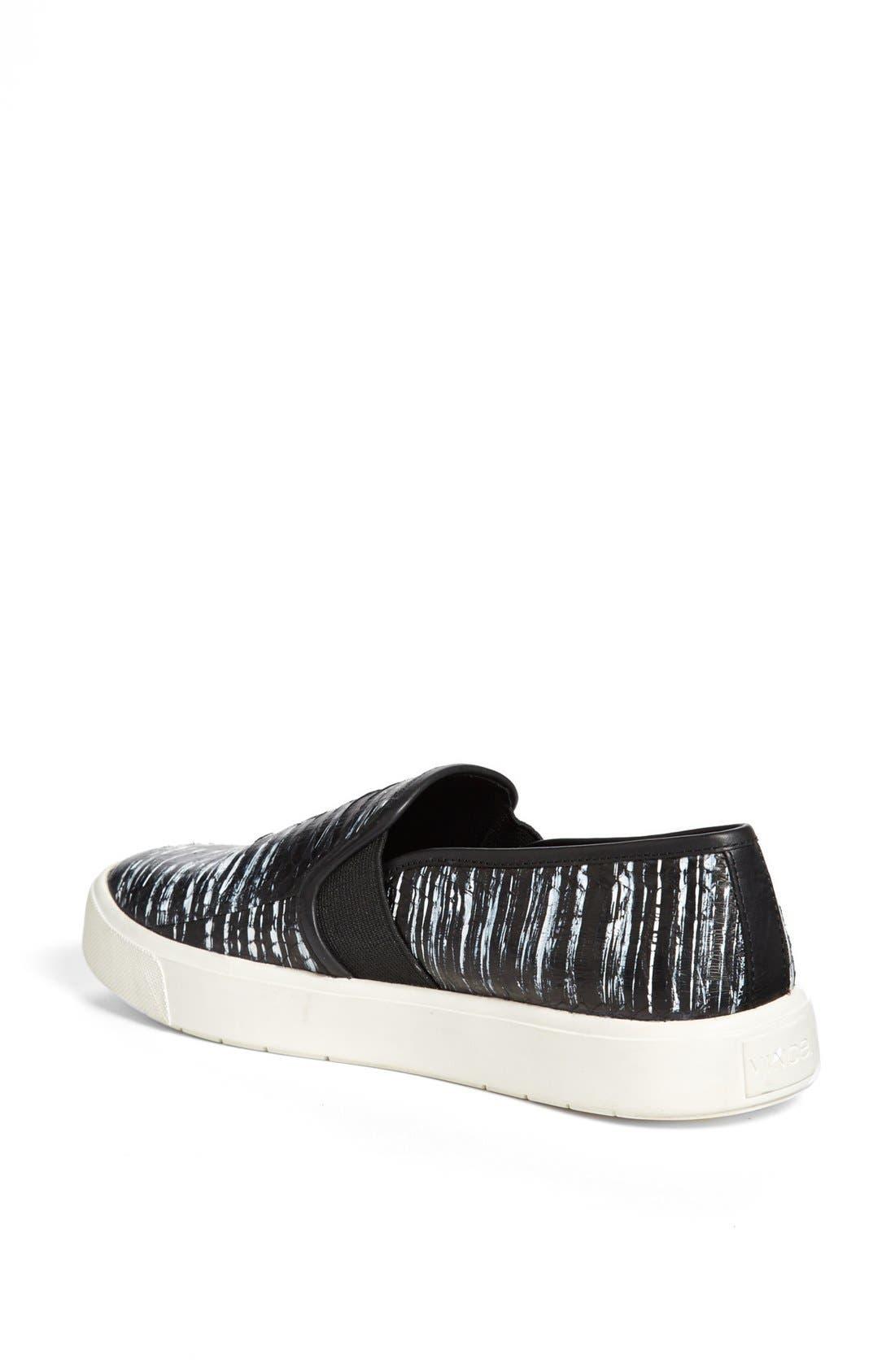 Alternate Image 2  - Vince 'Blair 7' Snakeskin Slip-On Sneaker