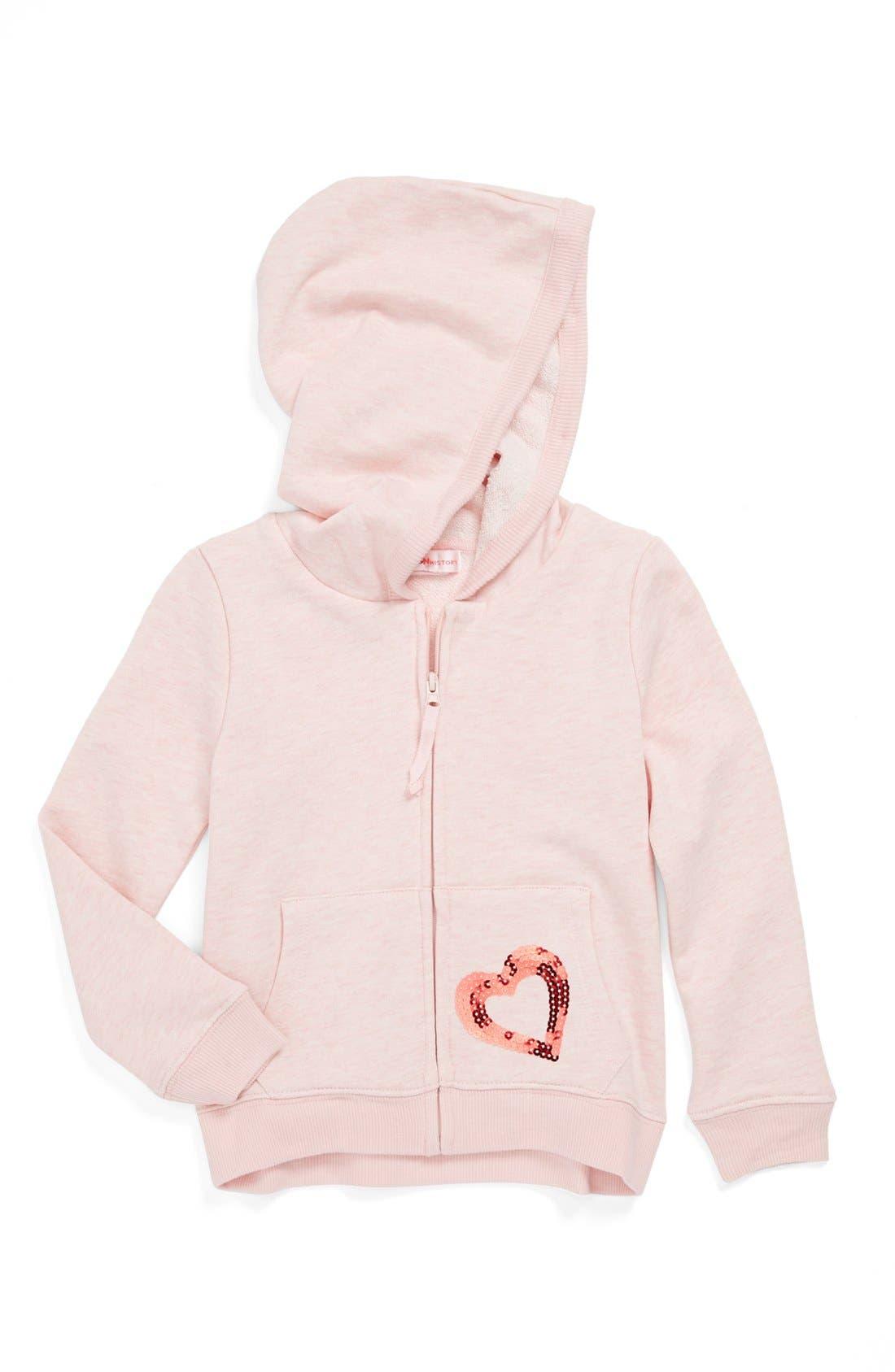 Alternate Image 1 Selected - Design History Zip Hoodie (Toddler Girls)