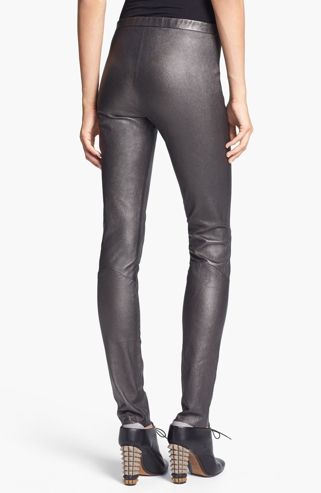 Alternate Image 2  - Theyskens' Theory 'Pohn Netch' Leather Leggings