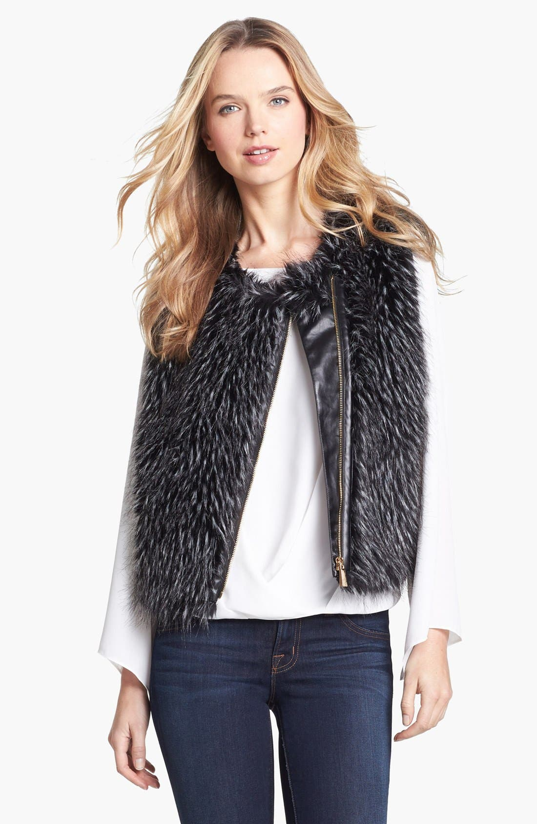 Alternate Image 3  - Vince Camuto Faux Fur Vest