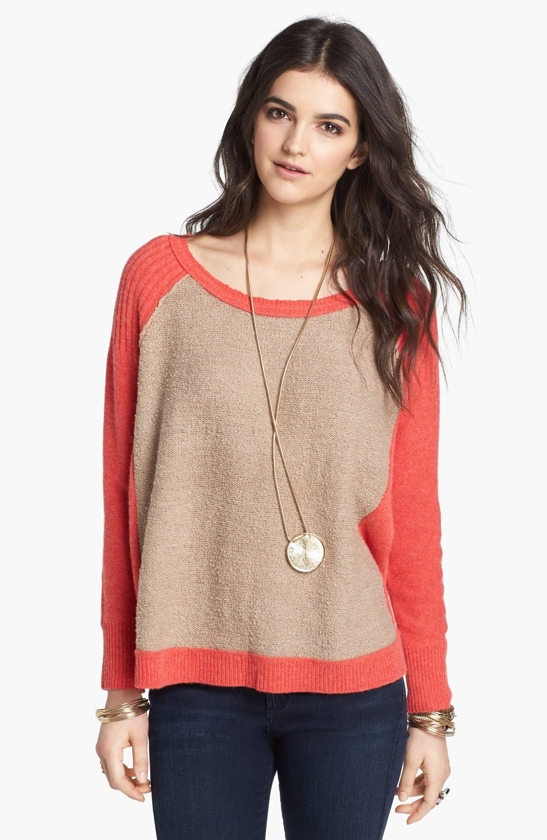 Alternate Image 1 Selected - Free People 'Tabbard' Pullover Sweater
