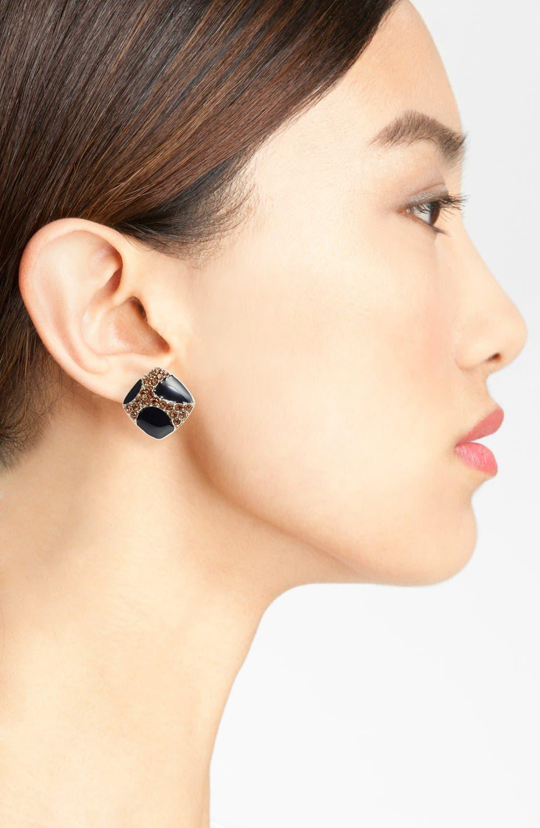 Alternate Image 2  - Carbon Copy Enamel Stud Earrings