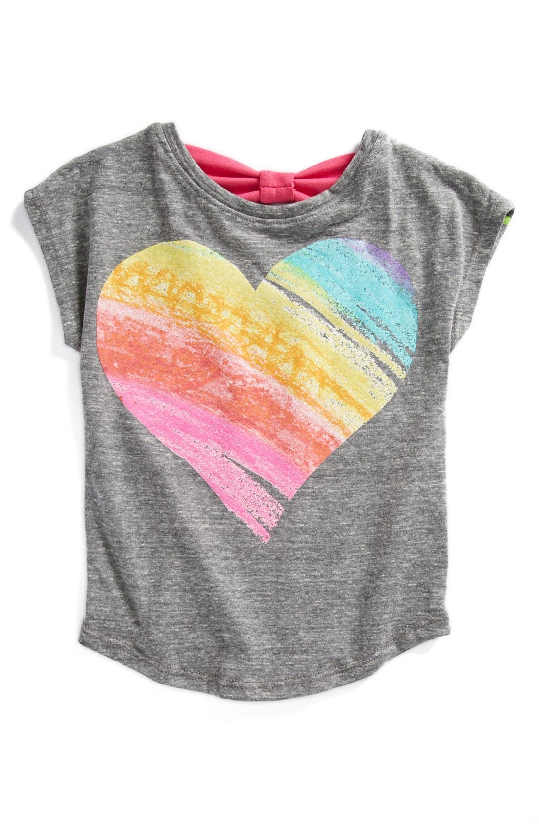 Alternate Image 1 Selected - Mighty Fine 'Crayon Heart' Tee (Toddler Girls)