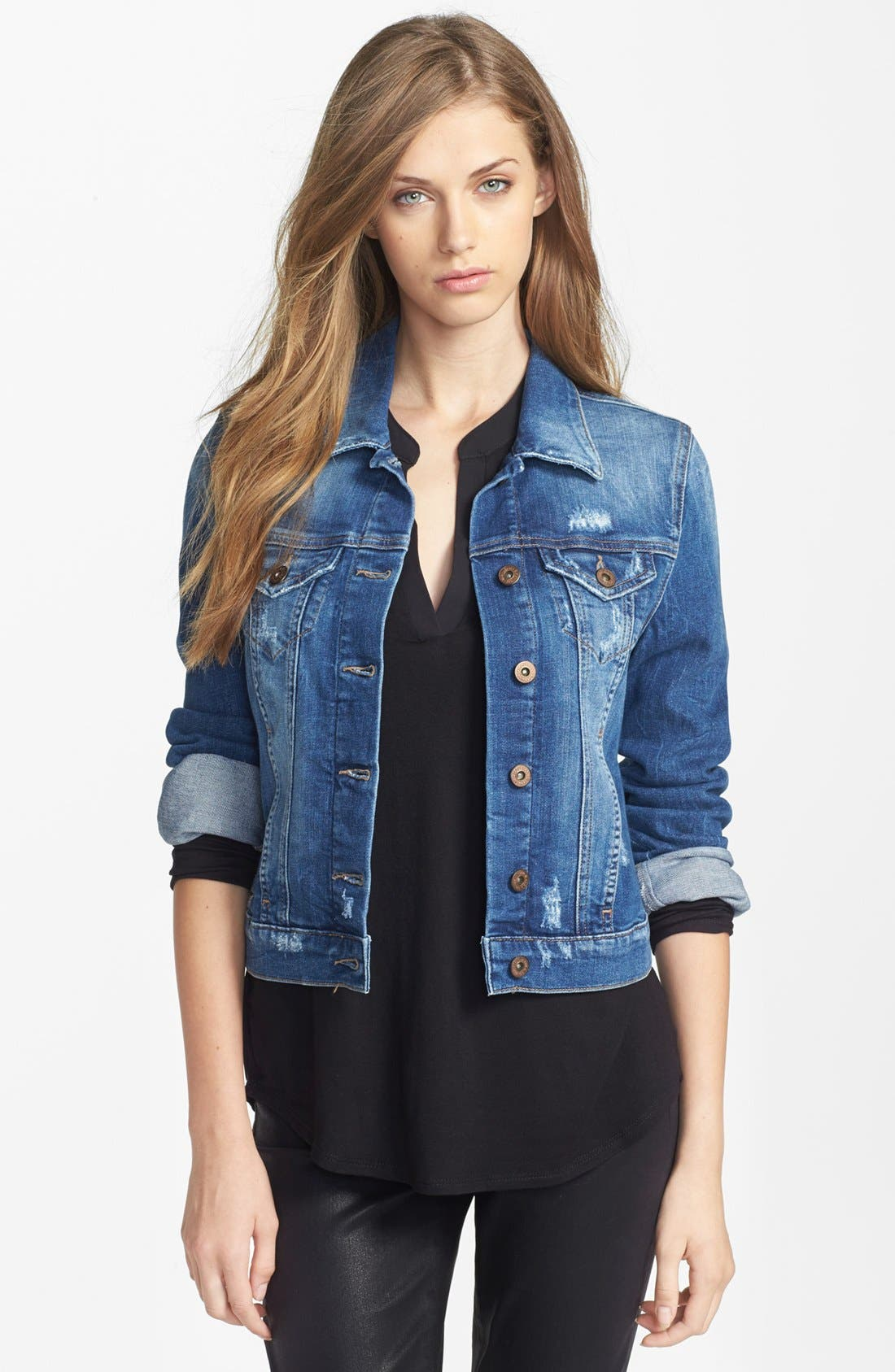Main Image - Mavi Jeans 'Samantha' Denim Jacket