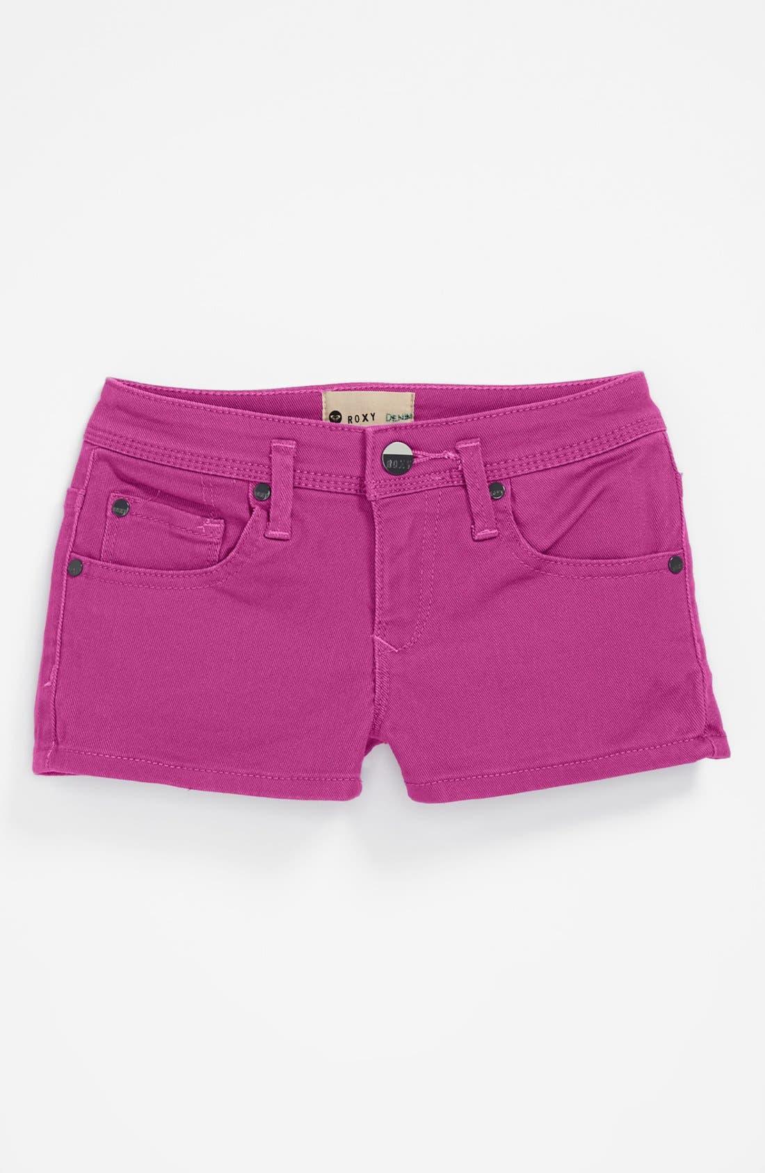 Alternate Image 2  - Roxy 'Ferris Wheel' Denim Shorts (Big Girls)