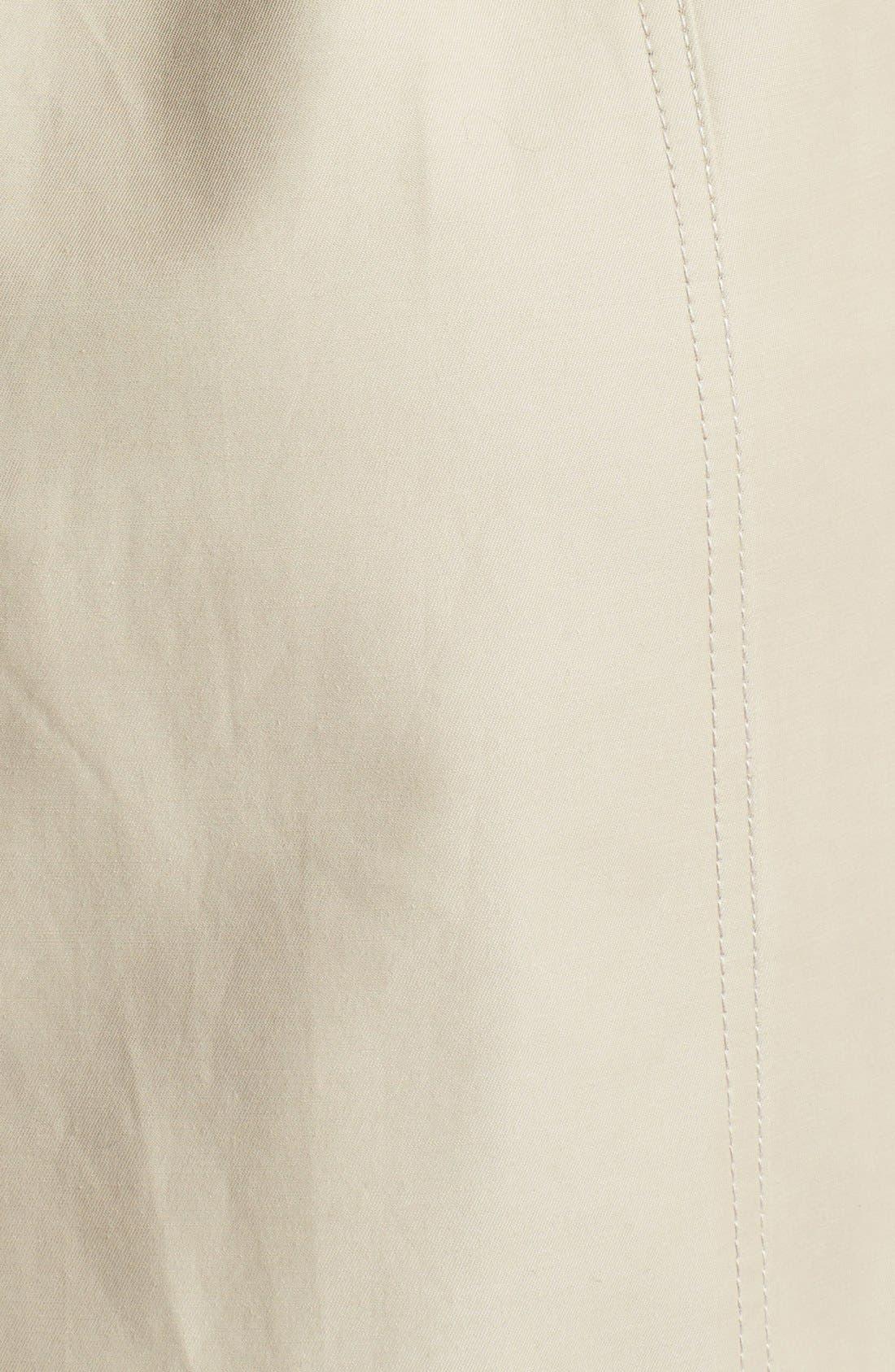 Alternate Image 3  - London Fog Asymmetrical Soft Shell Trench Coat (Regular & Petite)
