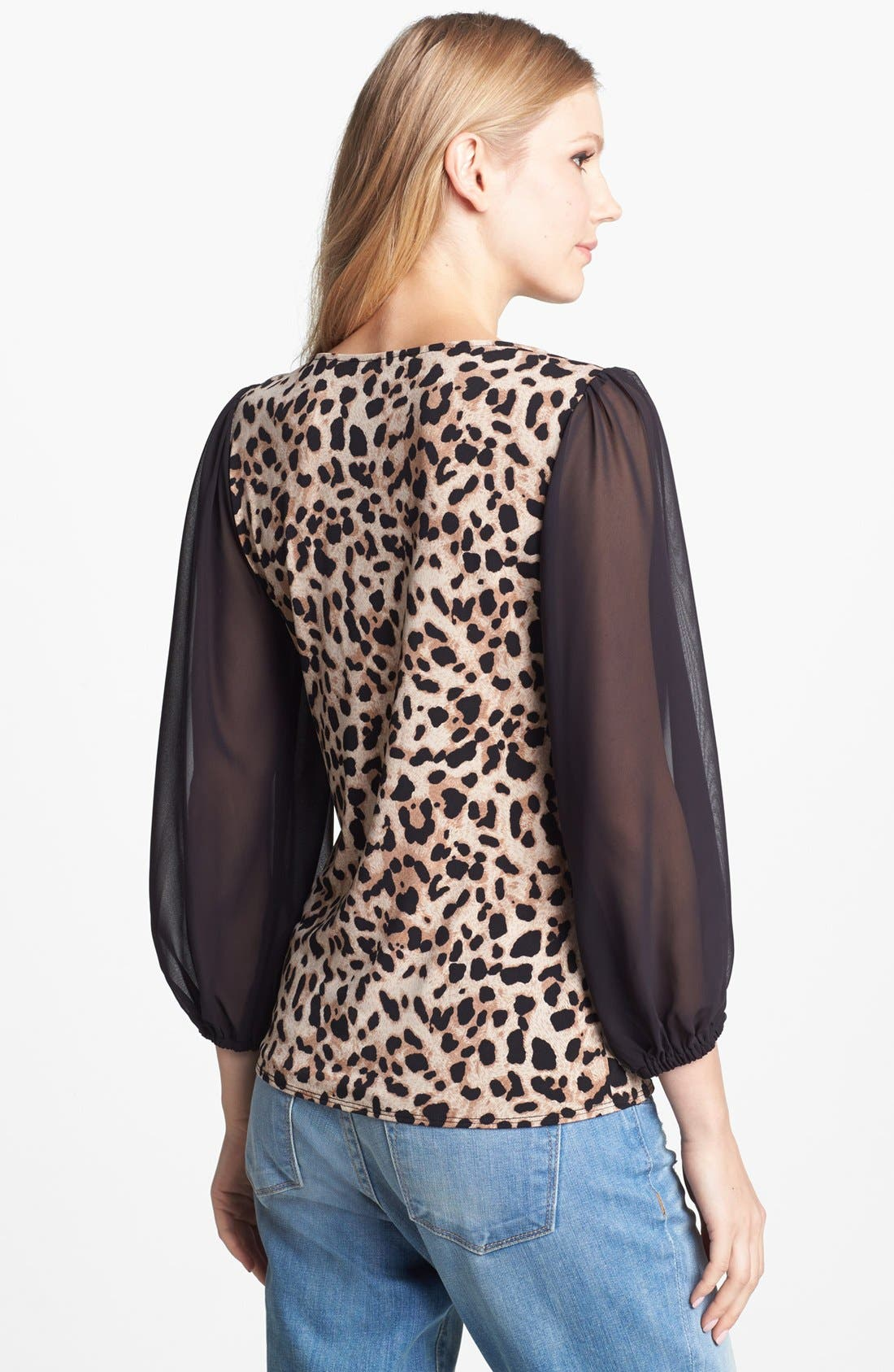Alternate Image 2  - Vince Camuto Chiffon Sleeve Print Top