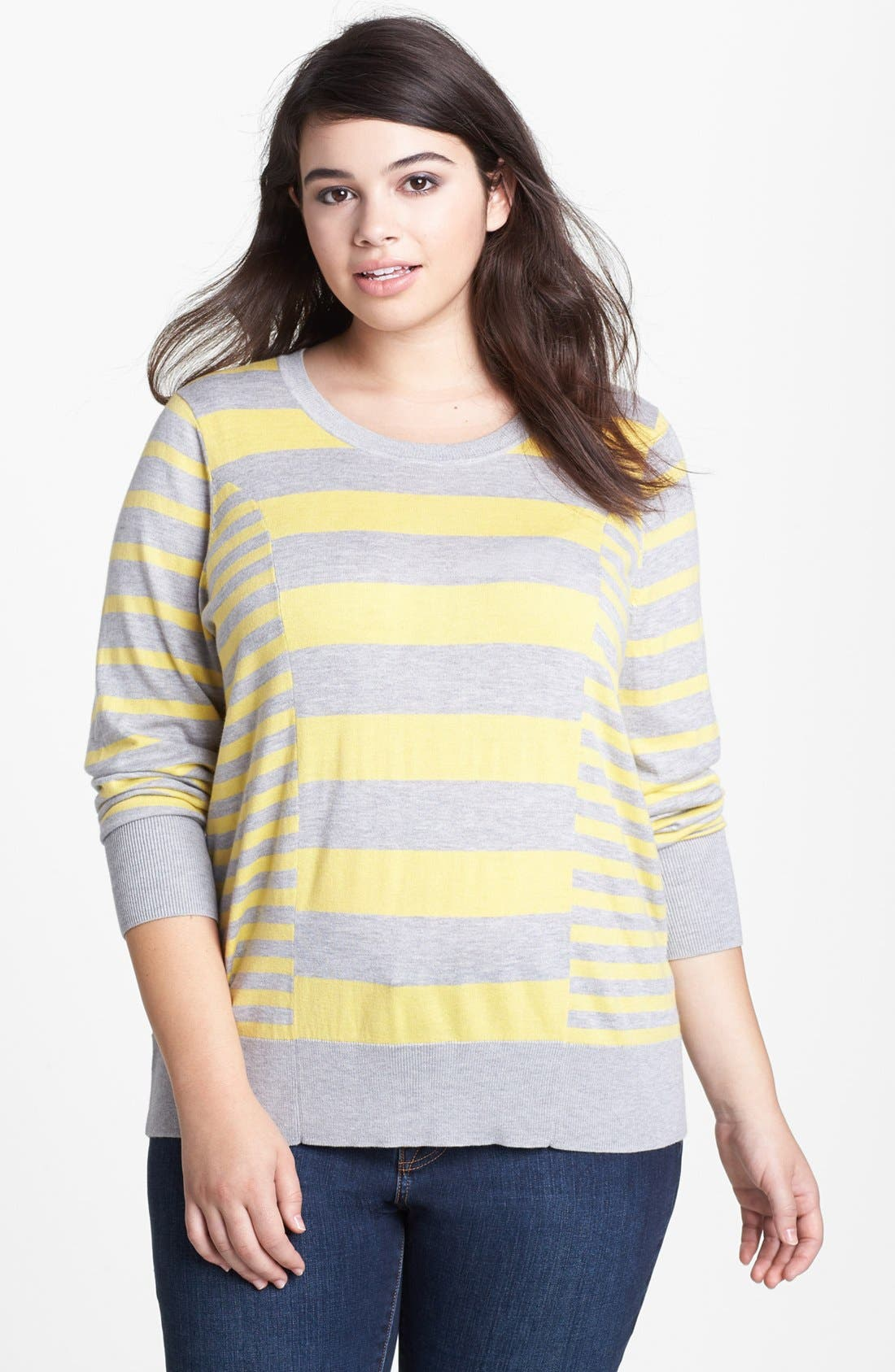 Alternate Image 1 Selected - Halogen® Pattern Sweater (Plus Size)