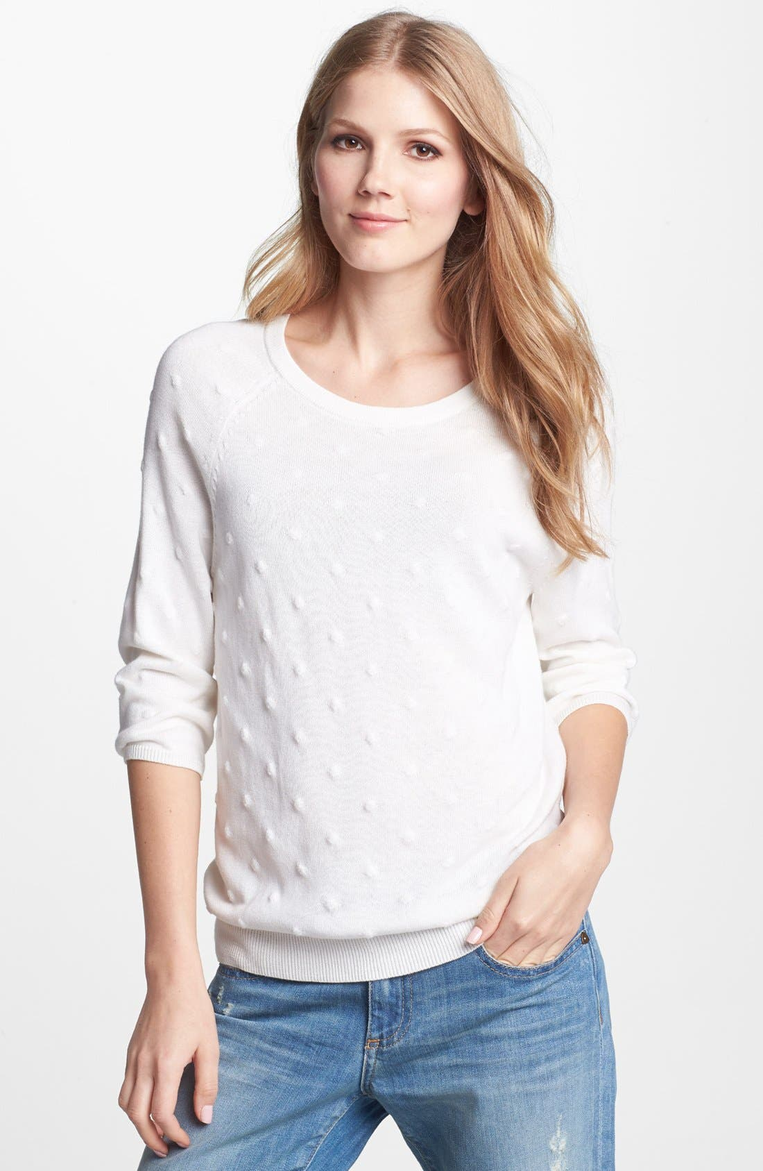 Alternate Image 1 Selected - Vince Camuto Bubble Stitch Sweater