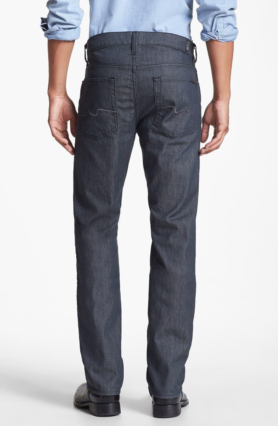 Alternate Image 2  - 7 For All Mankind® 'Slimmy' Slim Straight Leg Jeans (Clean Grey)