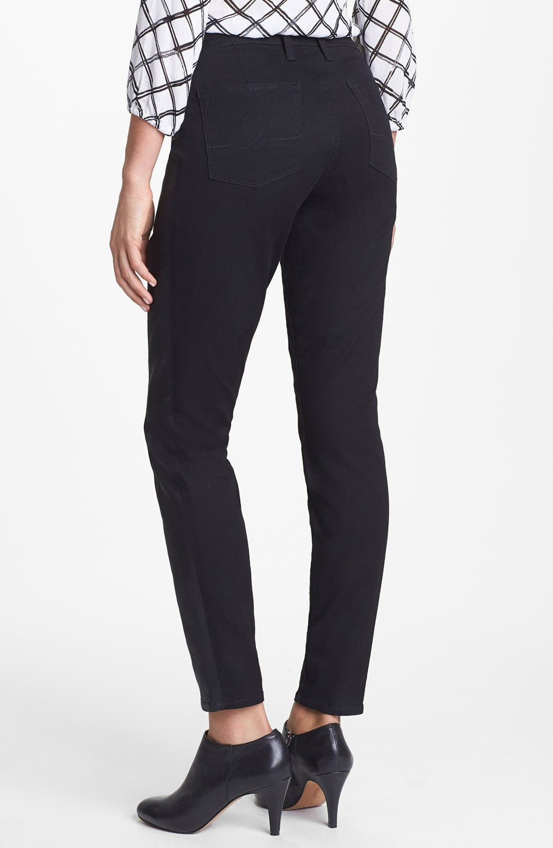 Alternate Image 2  - Lucky Brand 'Sofia' Tuxedo Detail Skinny Jeans (Jededia)