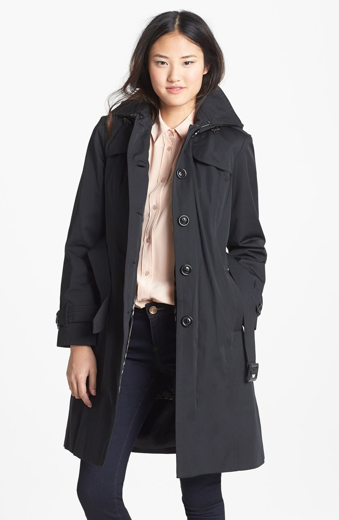 Main Image - London Fog Trench Coat with Detachable Hood & Liner (Regular) (Online Only)