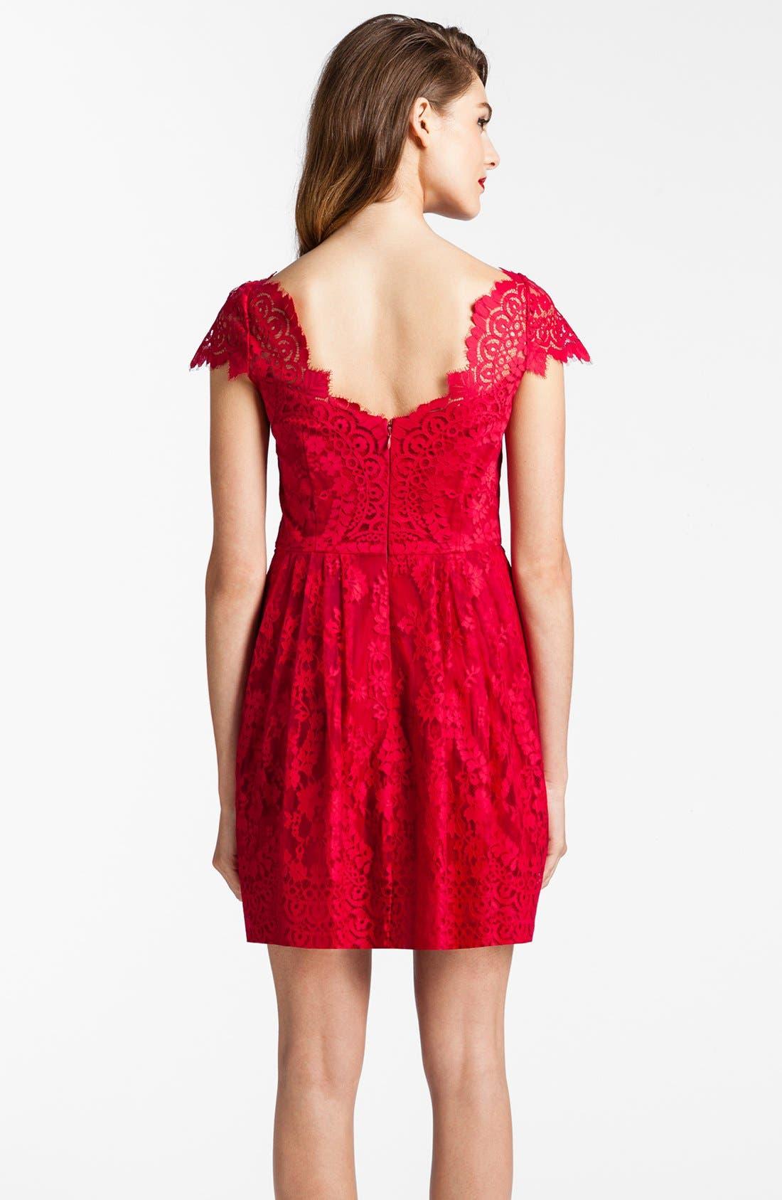 Alternate Image 2  - Cynthia Steffe Illusion Yoke Lace Fit & Flare Dress