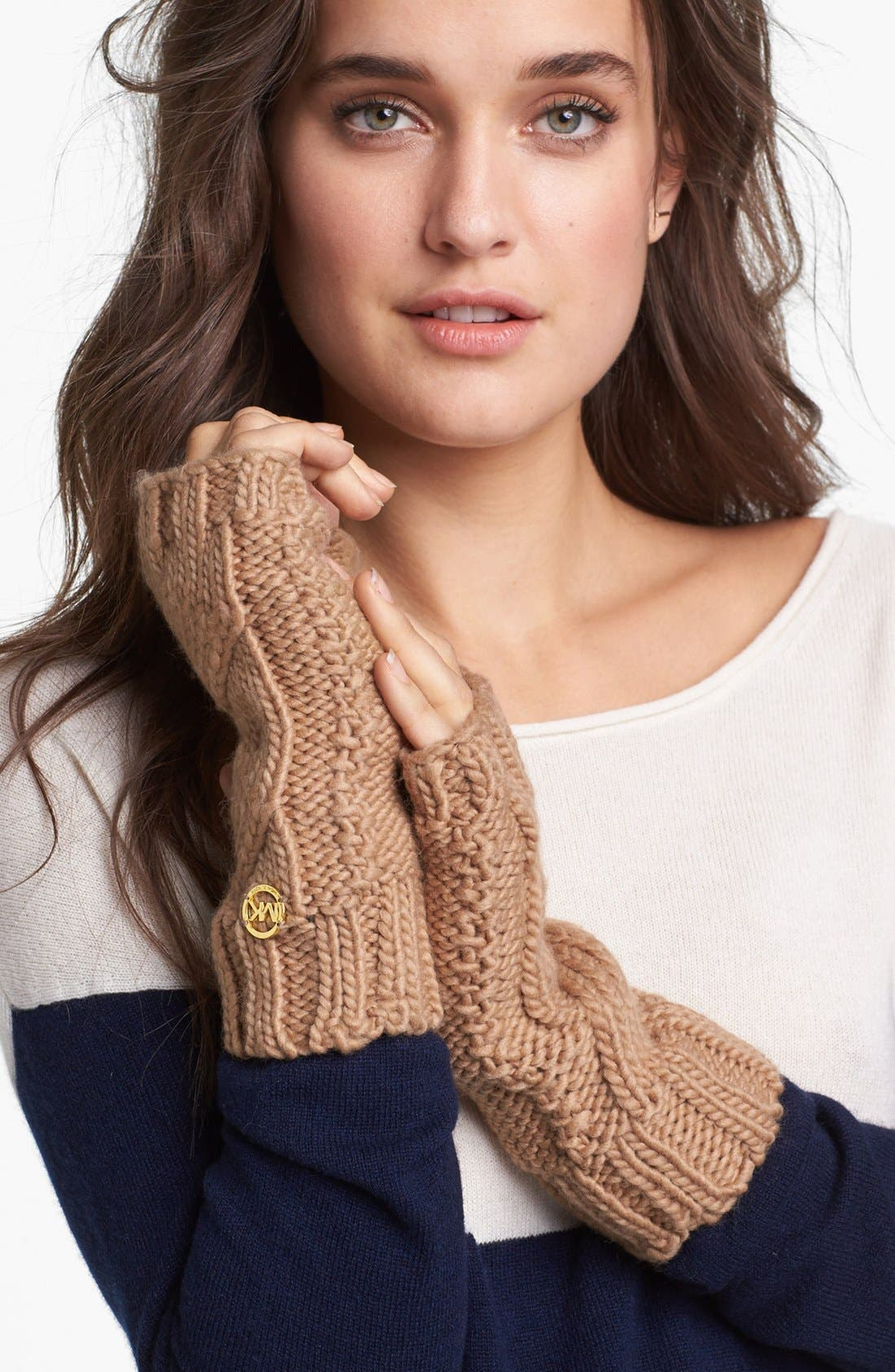Main Image - MICHAEL Michael Kors Cable Knit Arm Warmers