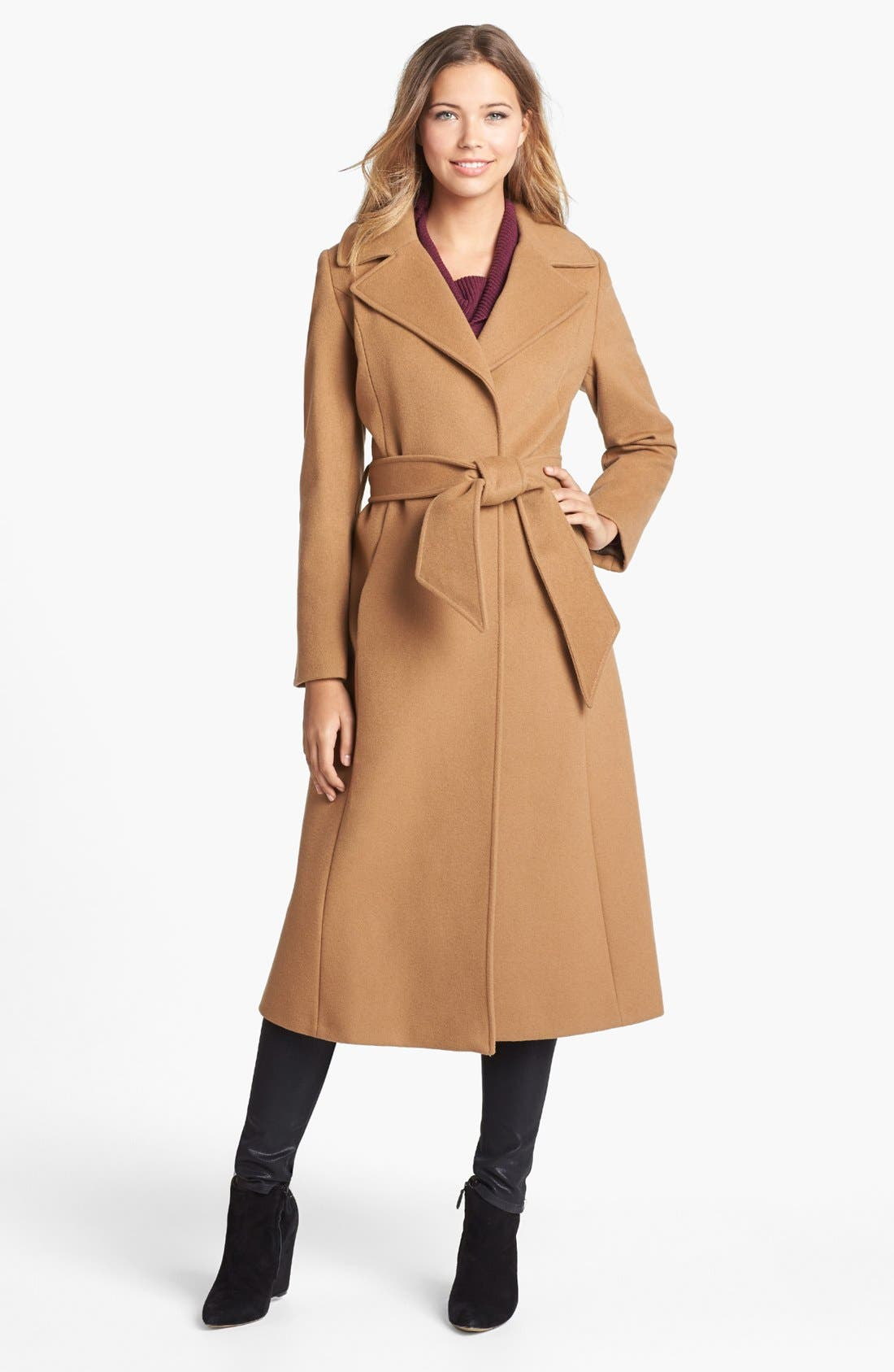 Alternate Image 1 Selected - George Simonton Couture Long Wool Blend Wrap Coat