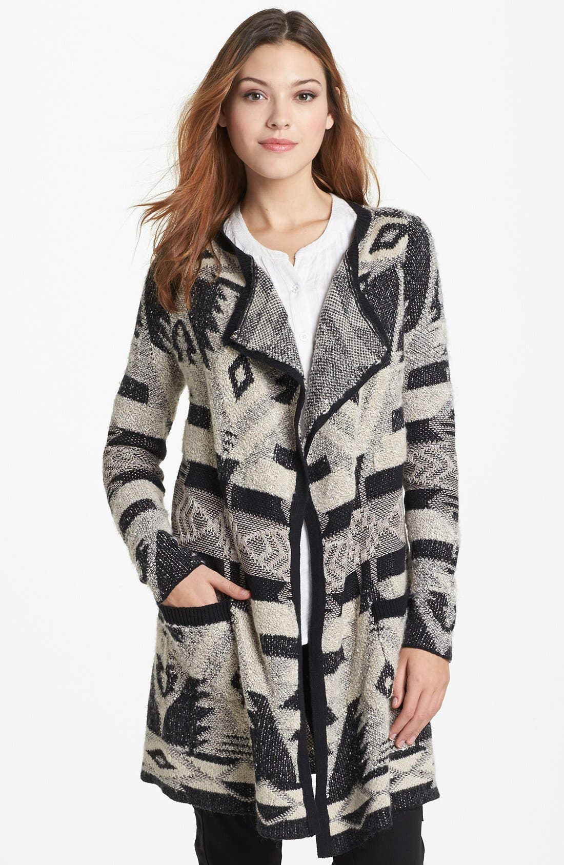 Alternate Image 1 Selected - Lucky Brand Tribal Pattern Cardigan