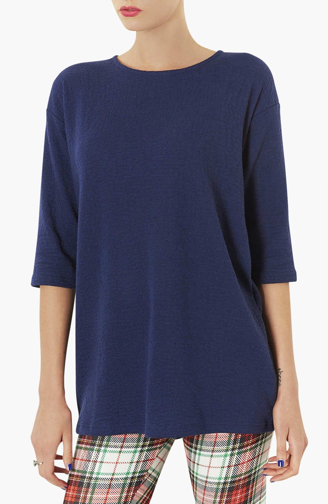 Alternate Image 1 Selected - Topshop 'Honeycomb' Tunic