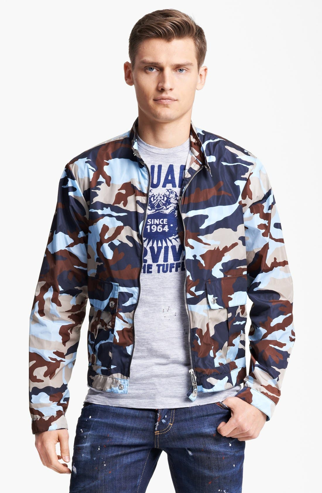 Alternate Image 1 Selected - Dsquared2 Lightweight Camo Jacket