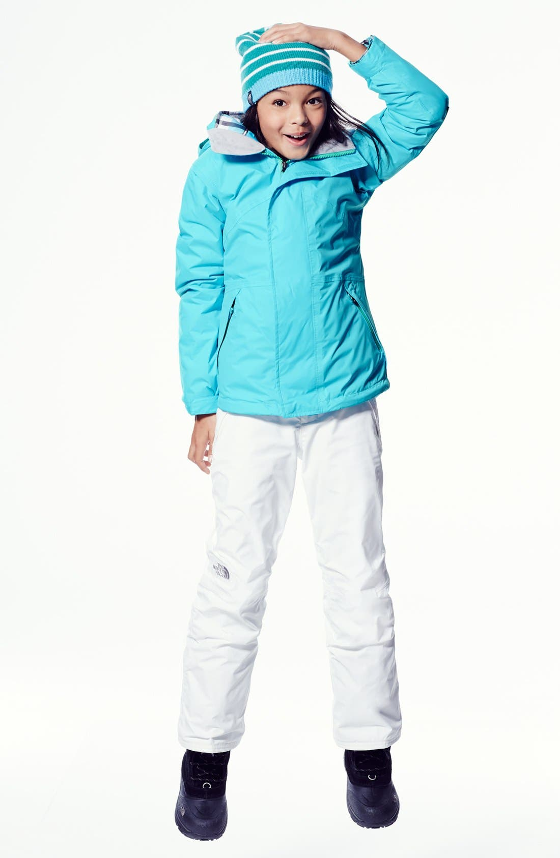 Main Image - The North Face Jacket & Patagonia Insulated Pants (Little Girls & Big Girls)