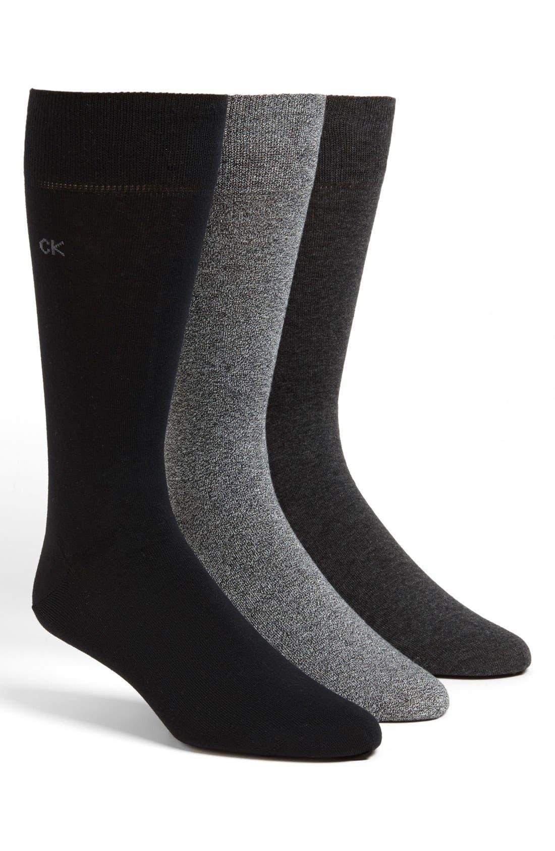 Main Image - Calvin Klein Assorted 3-Pack Socks