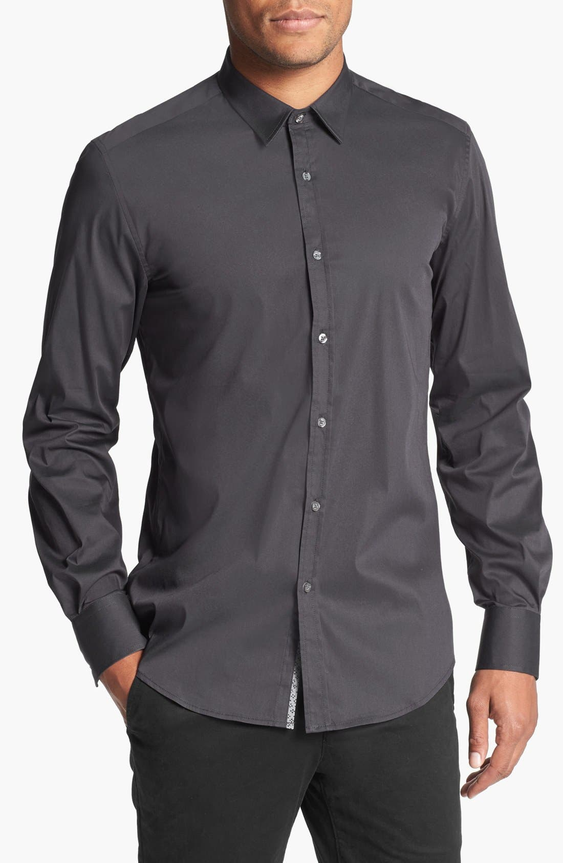 Alternate Image 1 Selected - Antony Morato Long Sleeve Sport Shirt