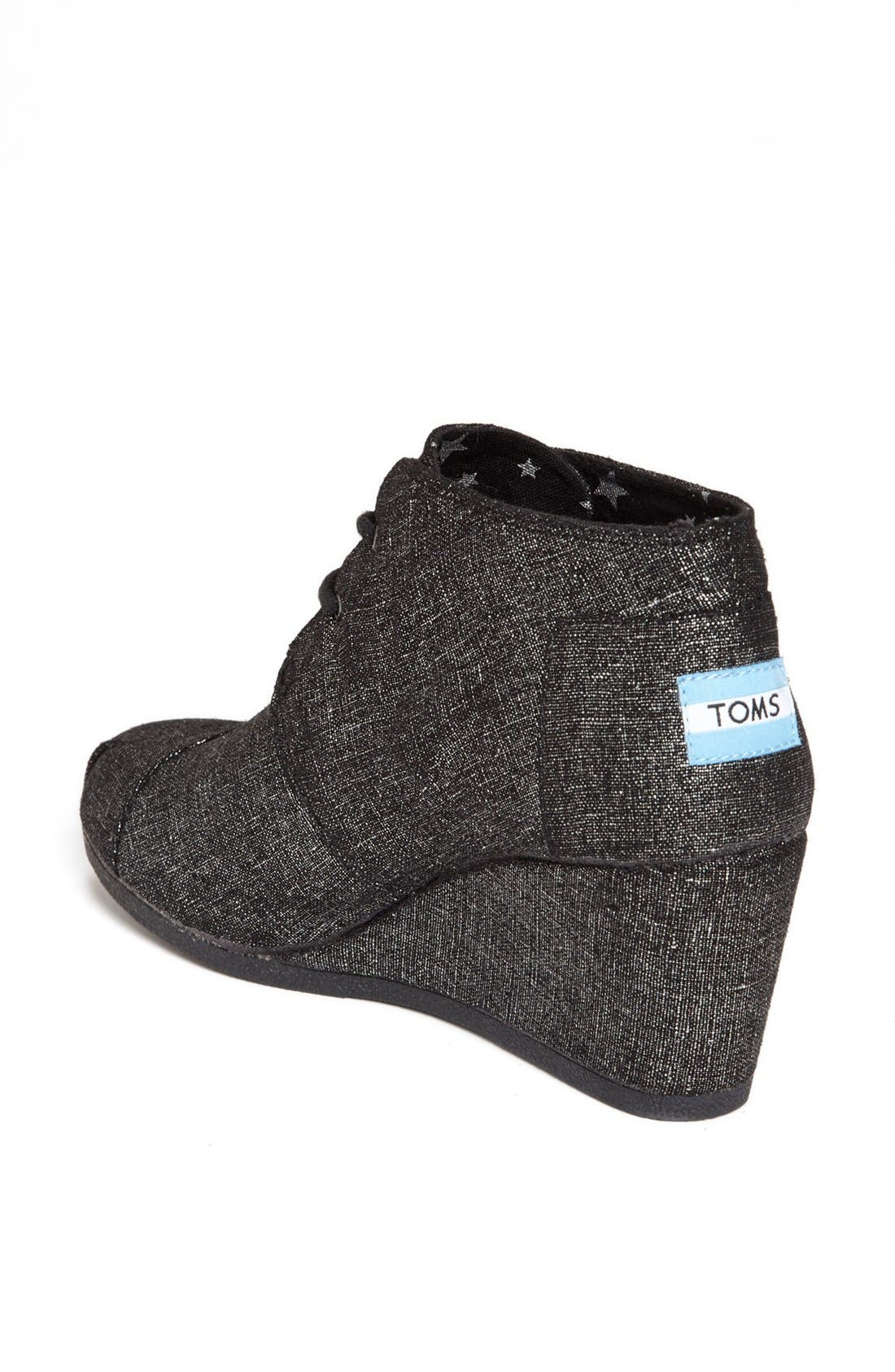 Alternate Image 2  - TOMS 'Desert' Metallic Linen Bootie (Women)