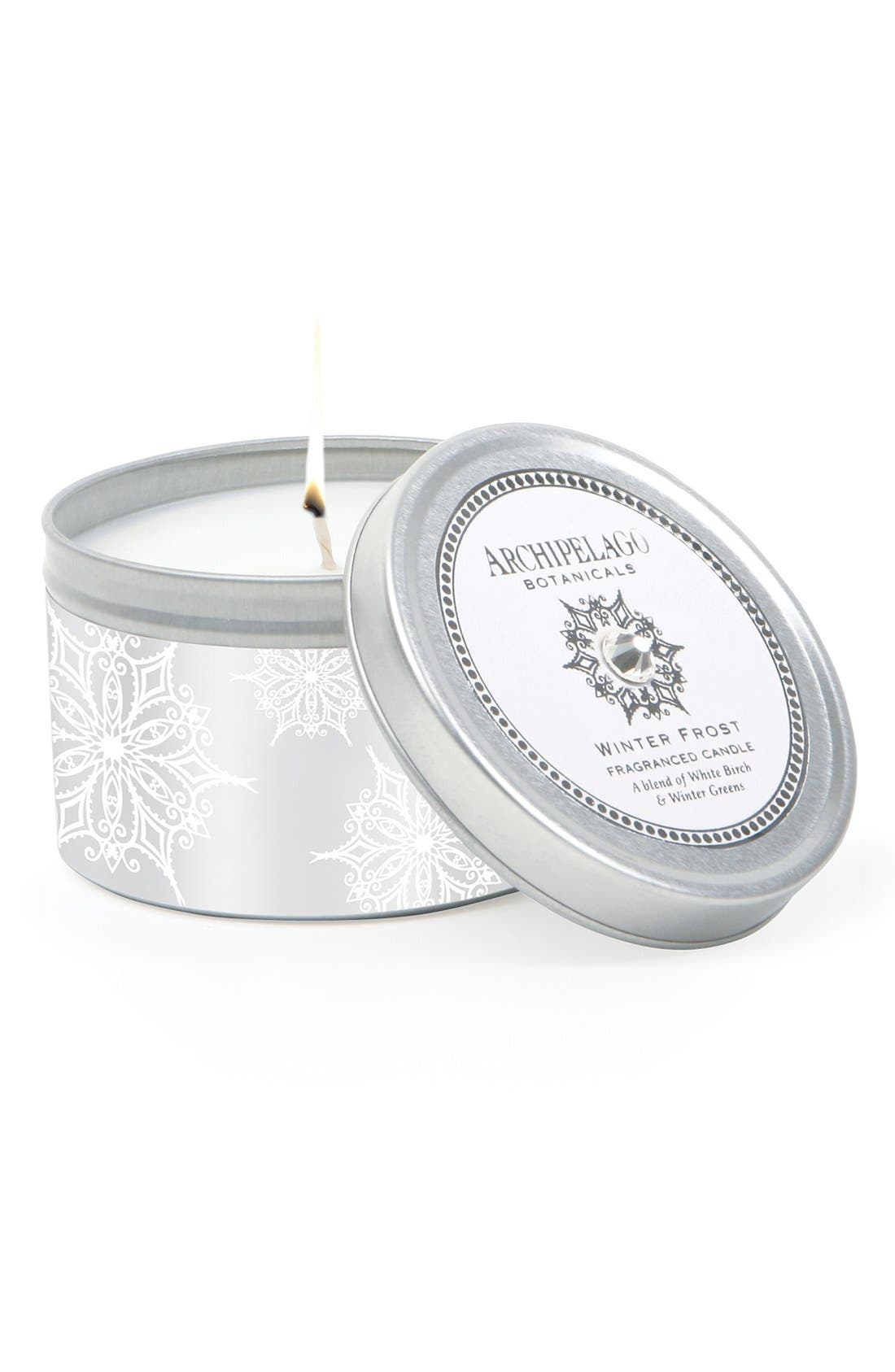 Alternate Image 1 Selected - Archipelago Botanicals 'Winter Frost' Travel Tin Candle