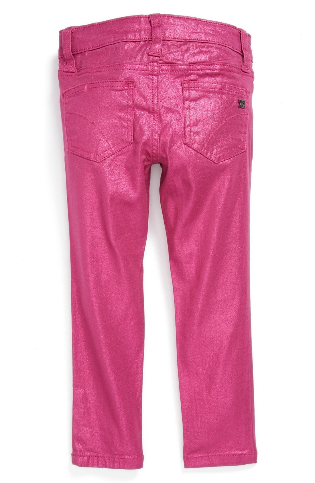 Alternate Image 1 Selected - Joe's Metallic Skinny Denim Jeans (Toddler Girls)