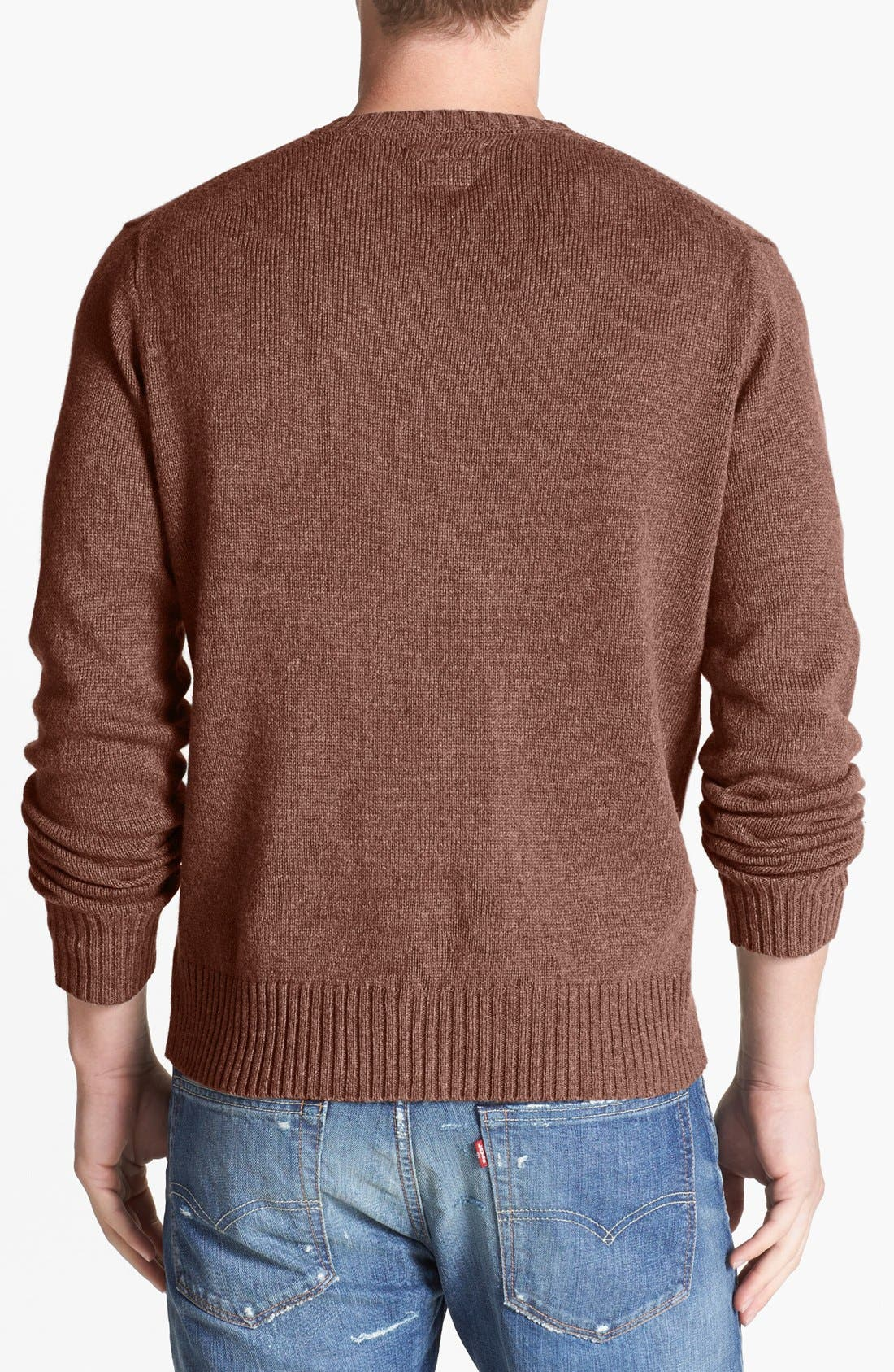 Alternate Image 2  - RVCA 'Briza' Crewneck Sweater