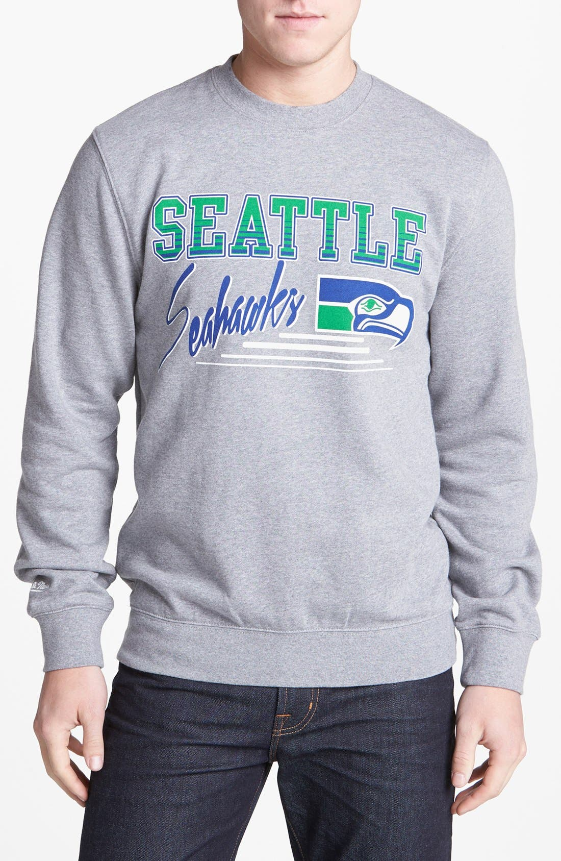 Alternate Image 1 Selected - Mitchell & Ness 'Seattle Seahawks' Sweatshirt