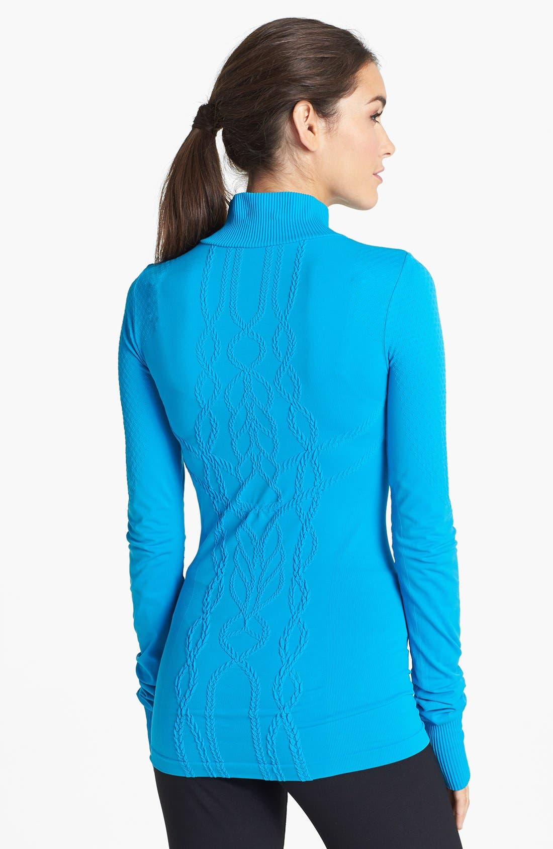 Alternate Image 2  - Zella Seamless Cable Training Top
