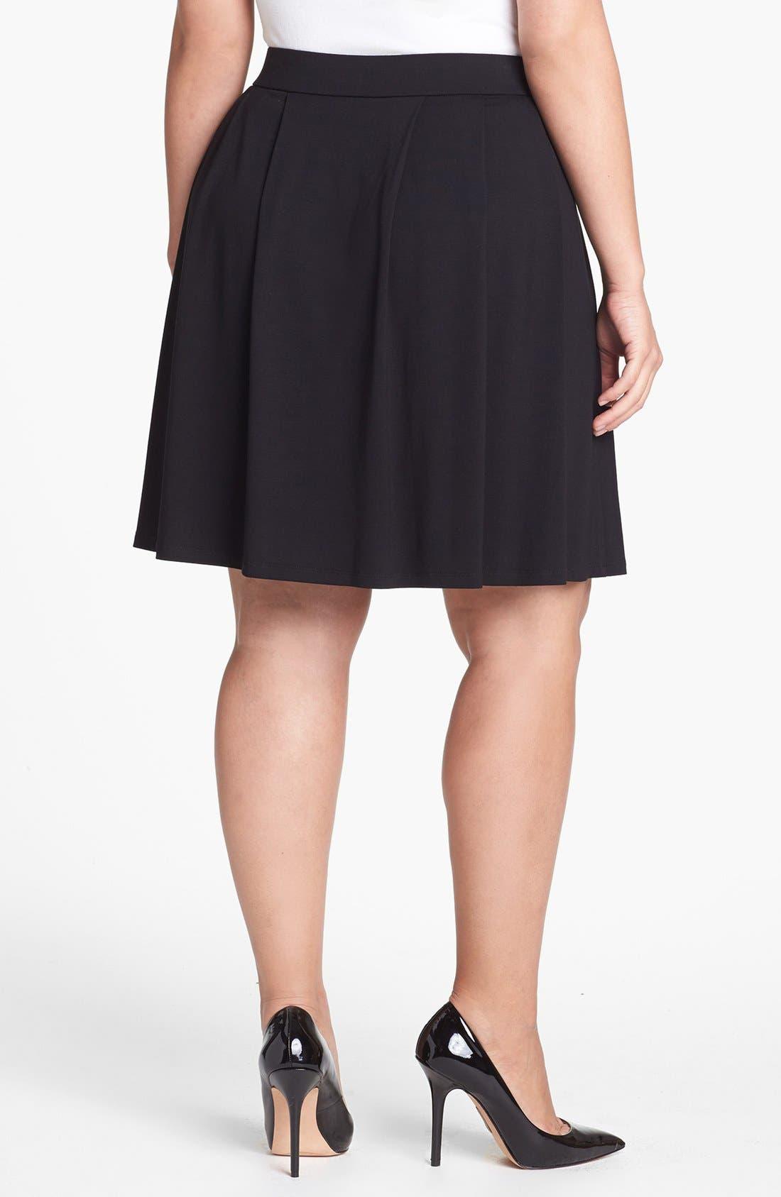 Alternate Image 3  - Eileen Fisher Pleat Skirt (Plus Size)