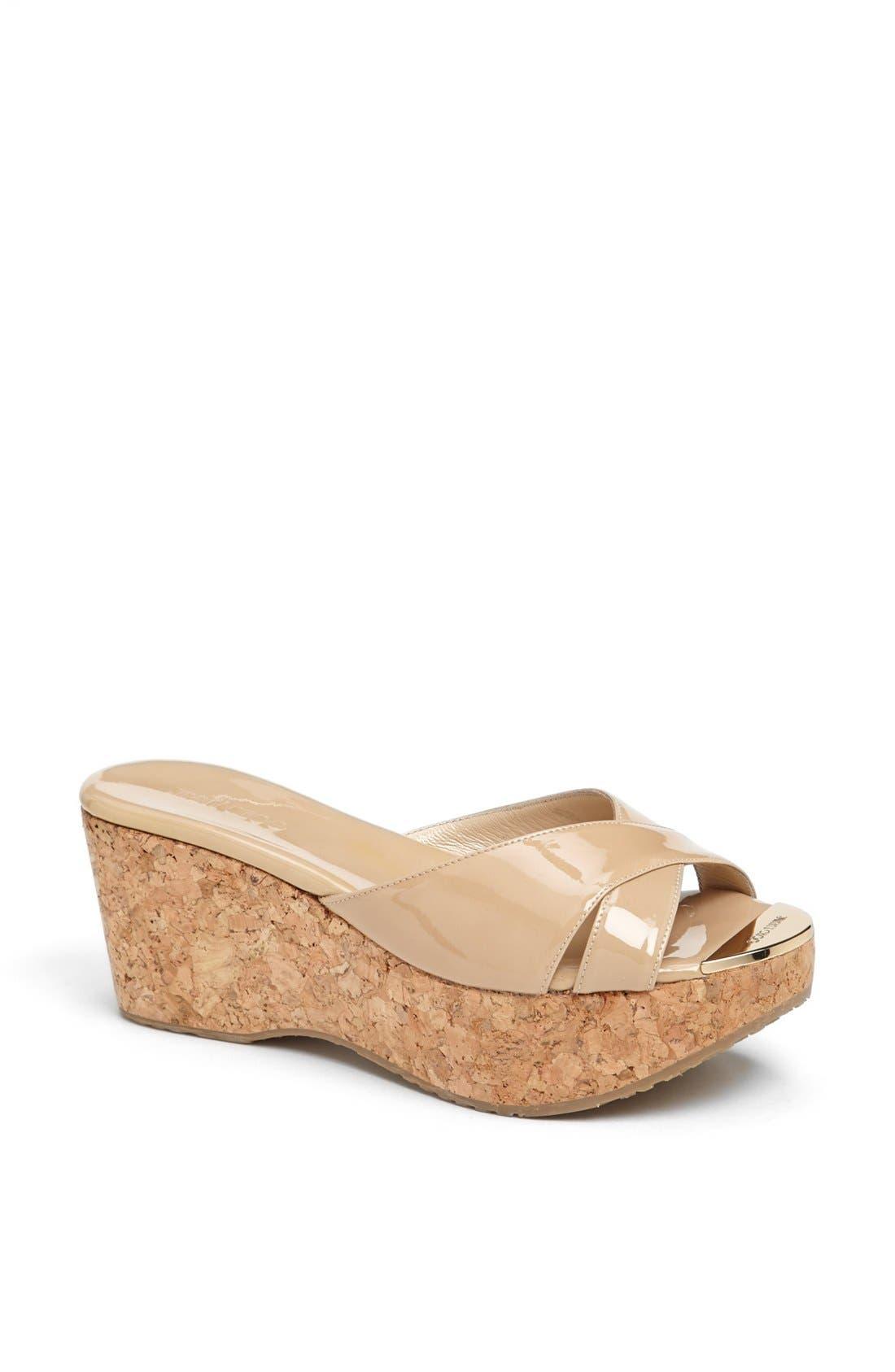 Alternate Image 1 Selected - Jimmy Choo 'Prima' Cork Platform Sandal (Women)