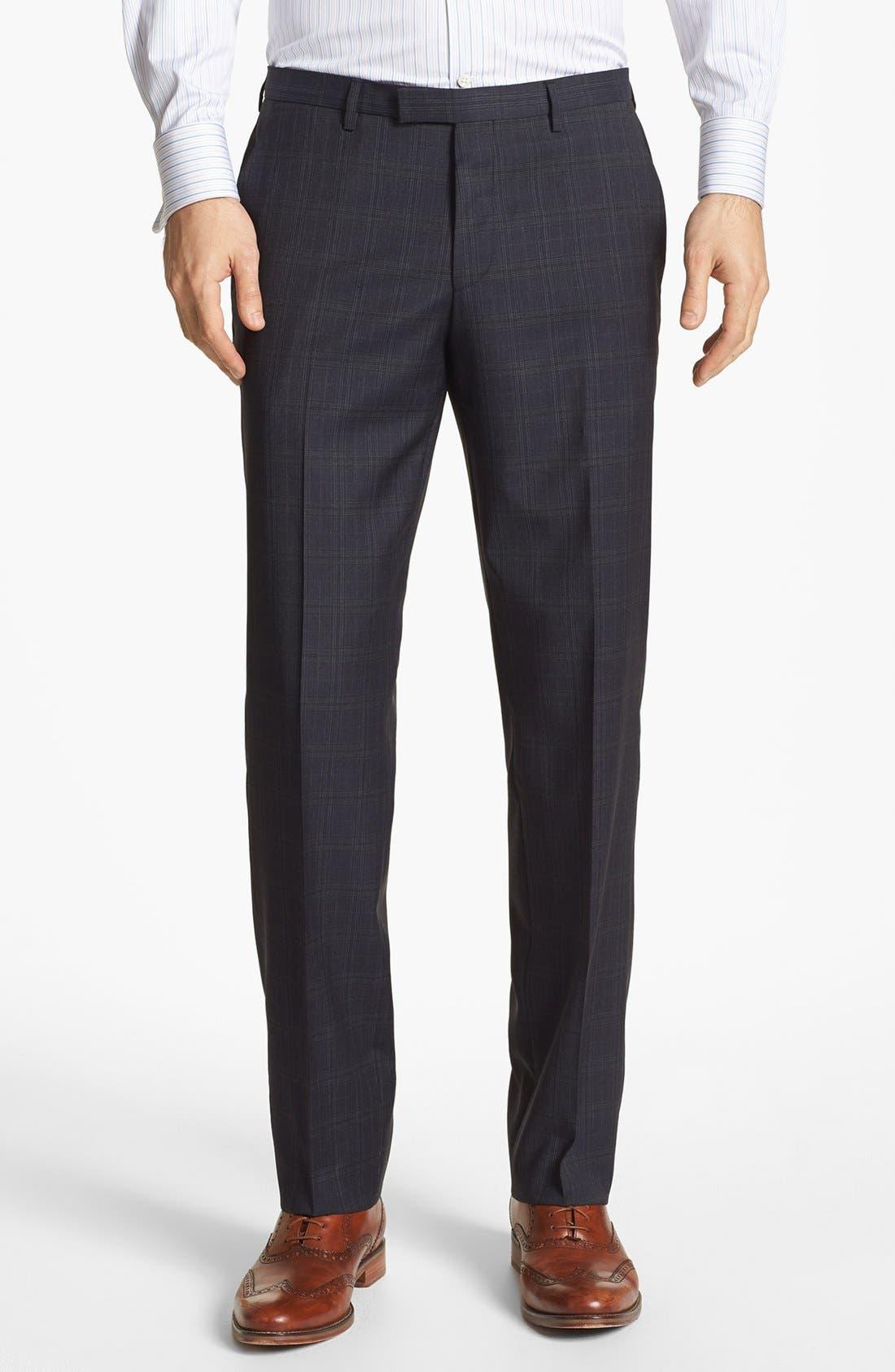 Main Image - BOSS HUGO BOSS 'Sharp' Flat Front Trousers