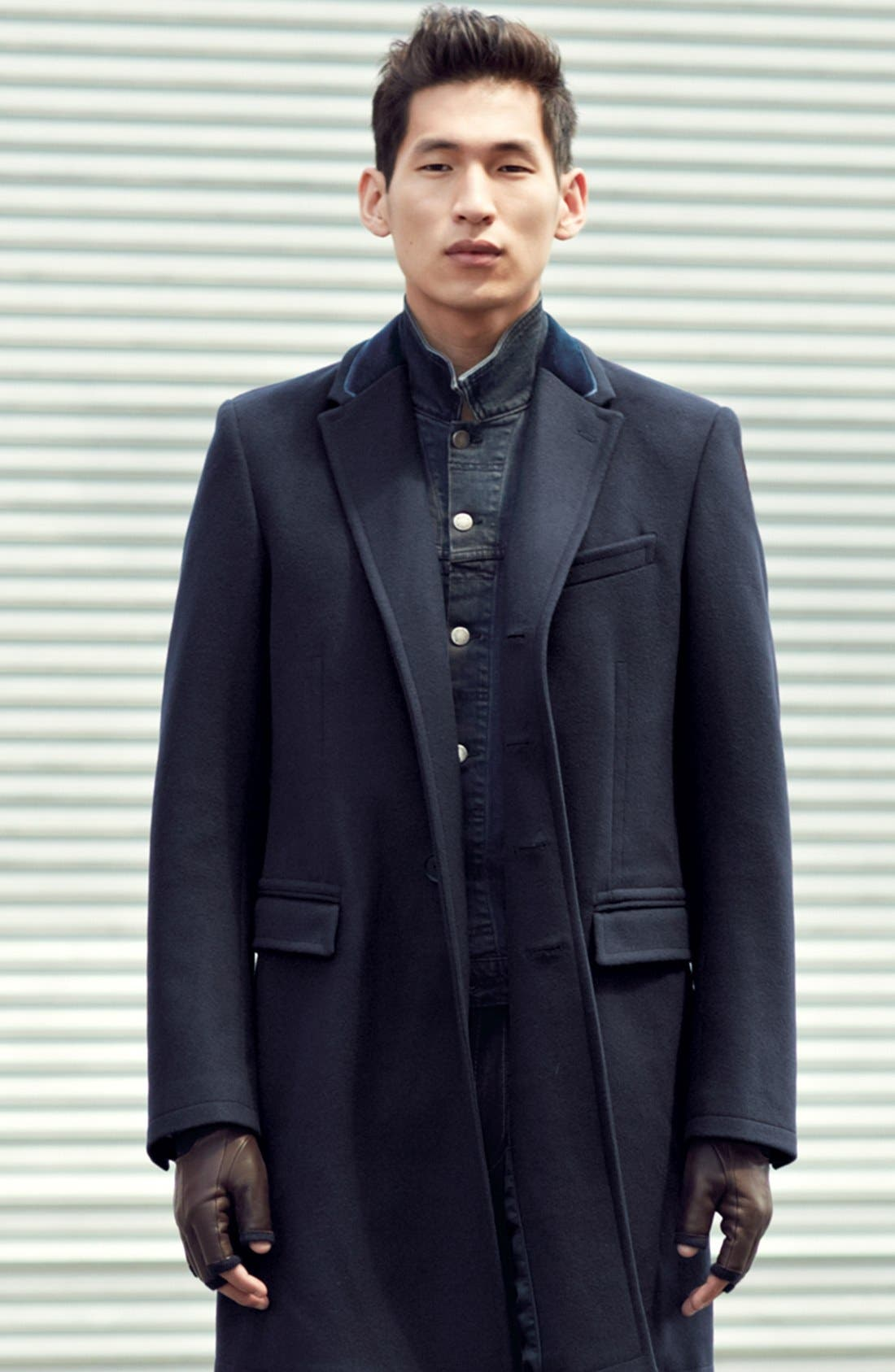 Alternate Image 6  - Paul Smith London Tailored Wool Topcoat