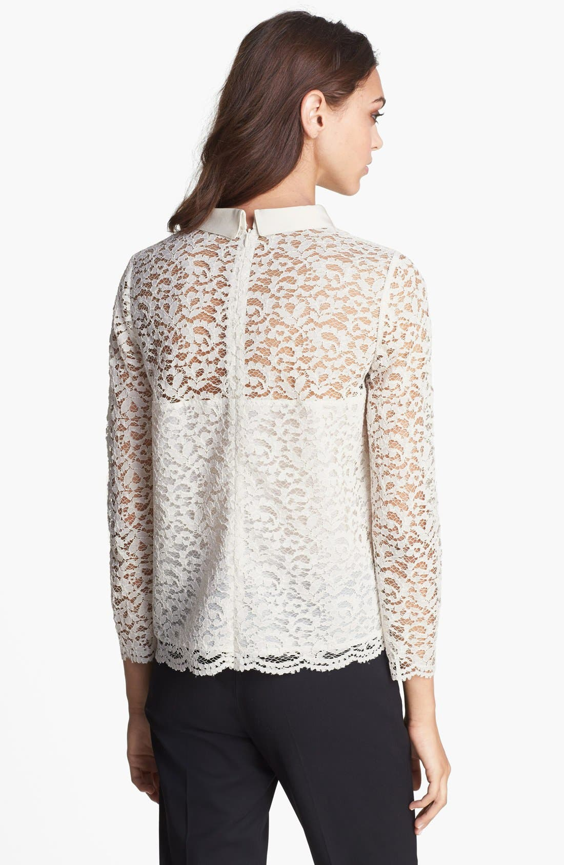 Alternate Image 4  - The Kooples Peter Pan Collar Lace Blouse