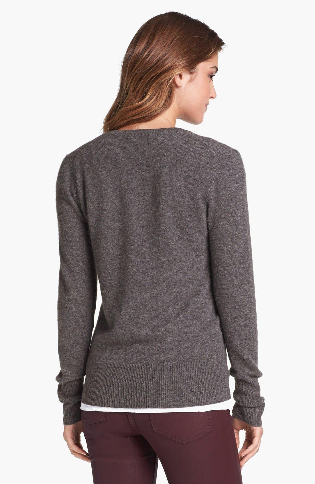 Alternate Image 2  - Halogen® V-Neck Cashmere Sweater